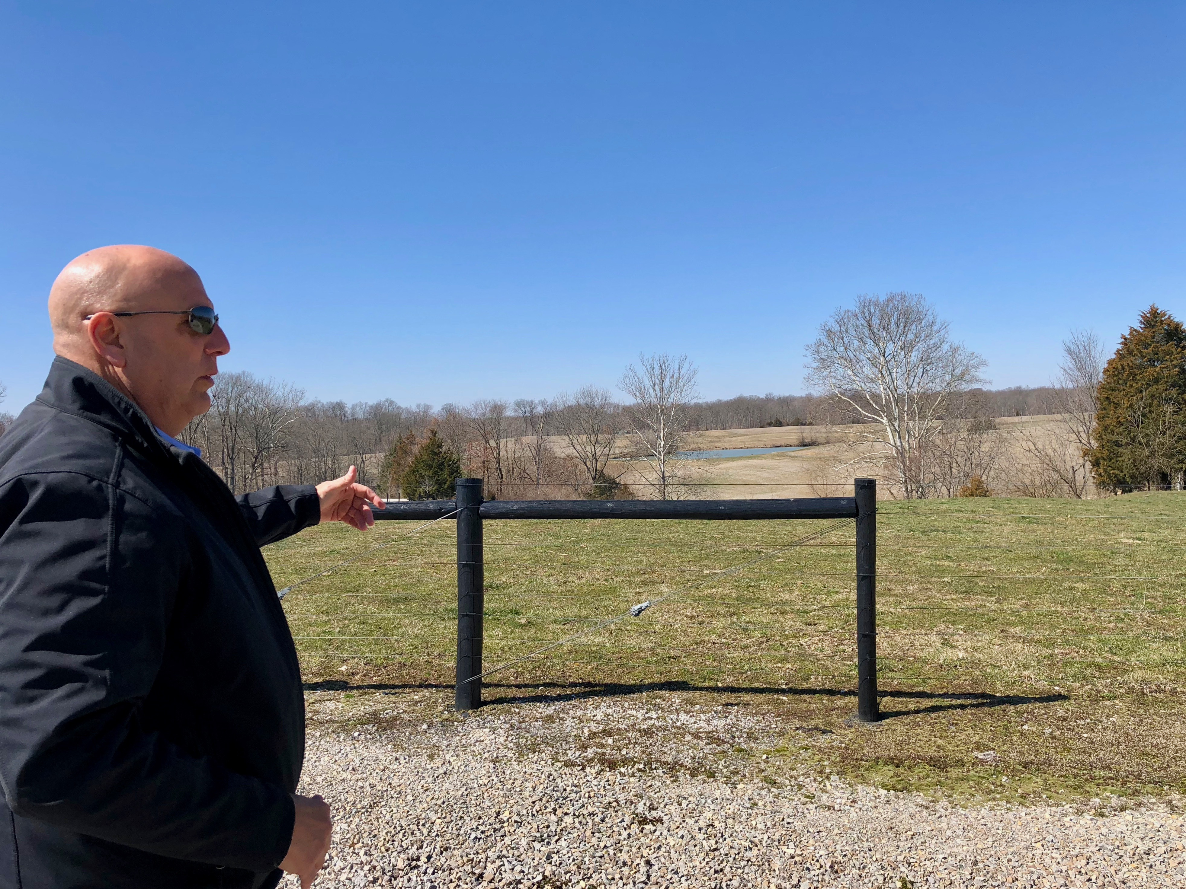 Keith Marsh, academic director at Indiana Agriculture and Technology School, explains aspects of the farm's hands-on learning plans.