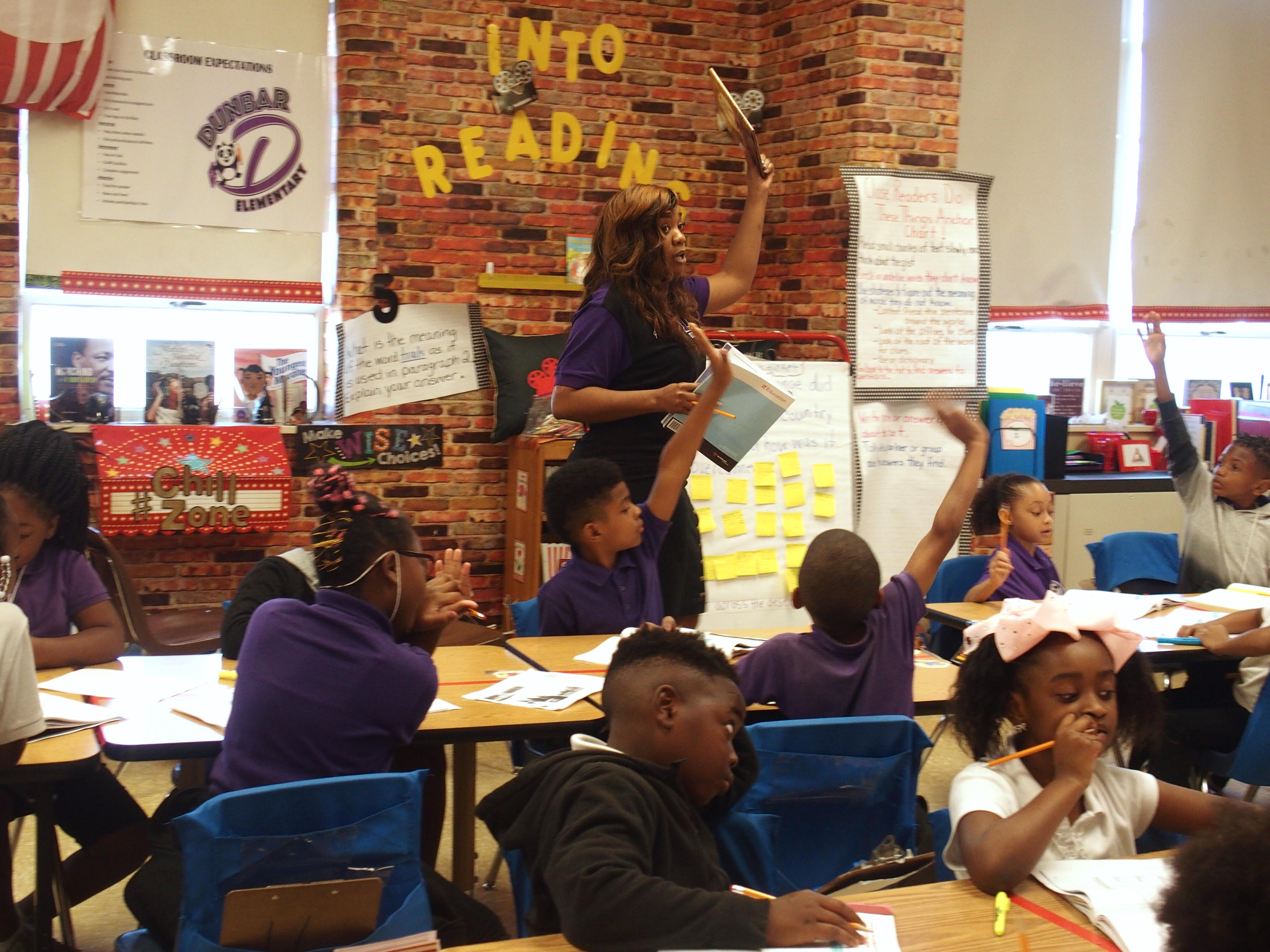 Taurus Brazil, a third grade English teacher at Dunbar Elementary School.