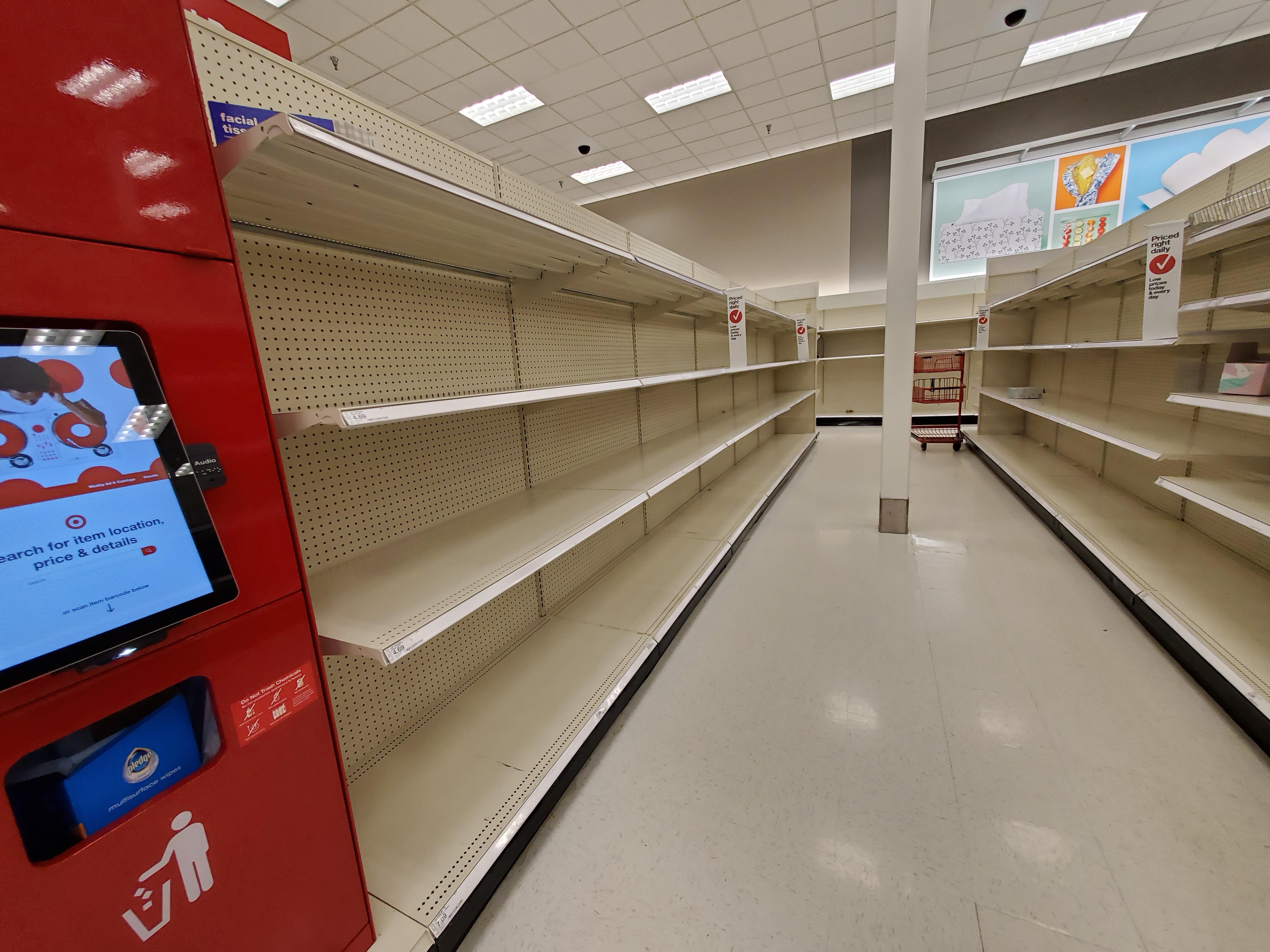 COVID-19 Empty Target Shelves