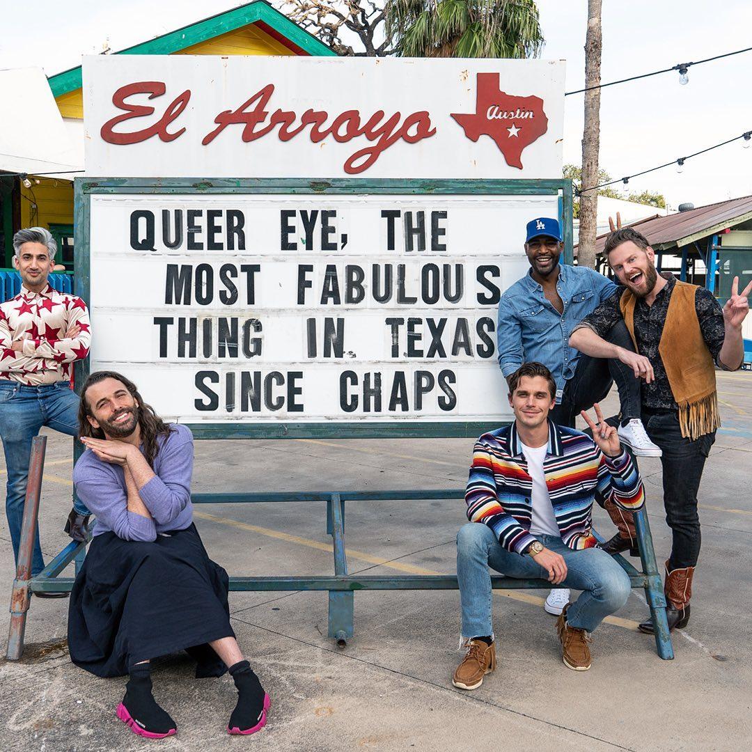 The Queer Eye team at El Arroyo
