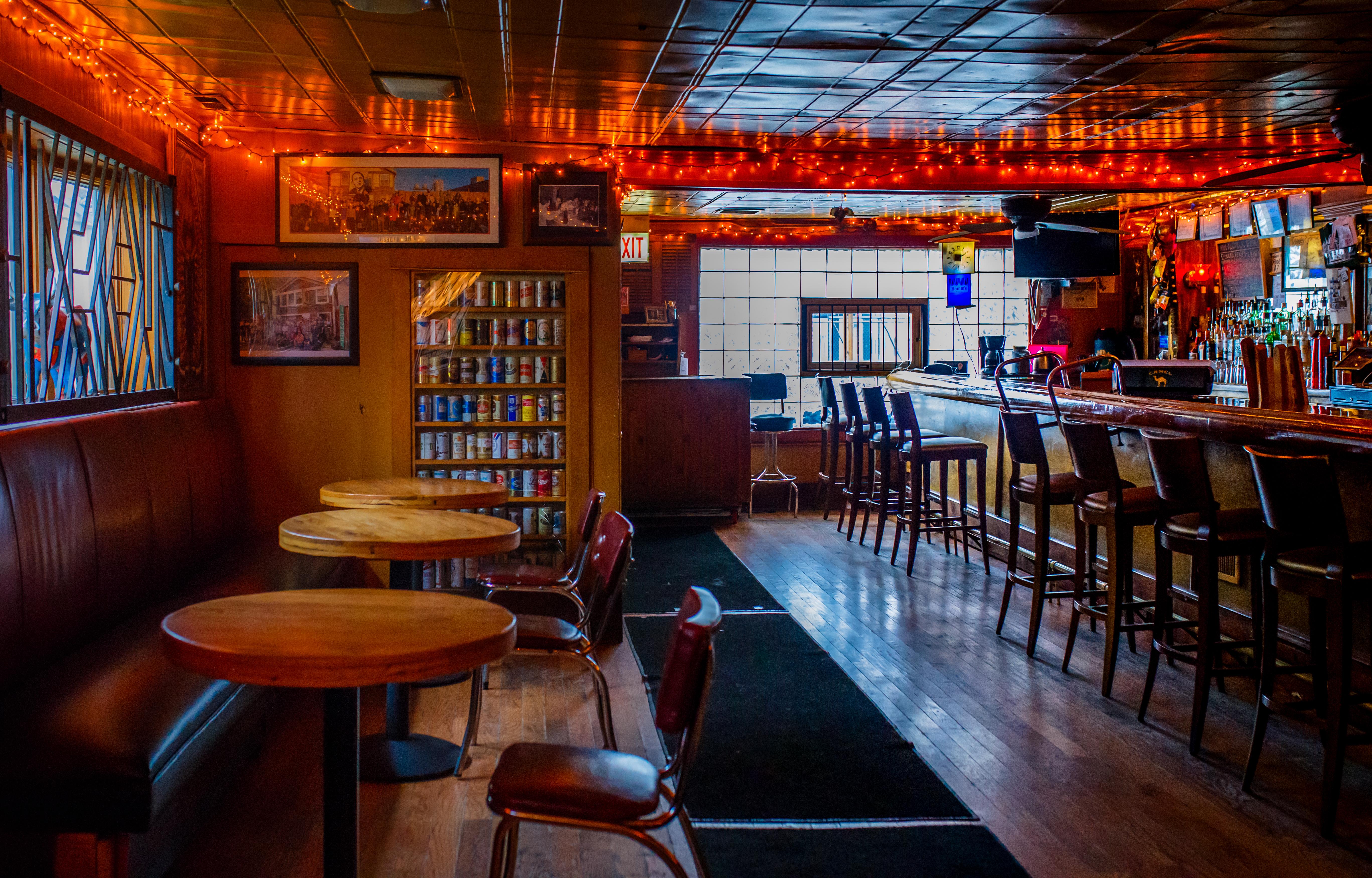 An empty bar space.