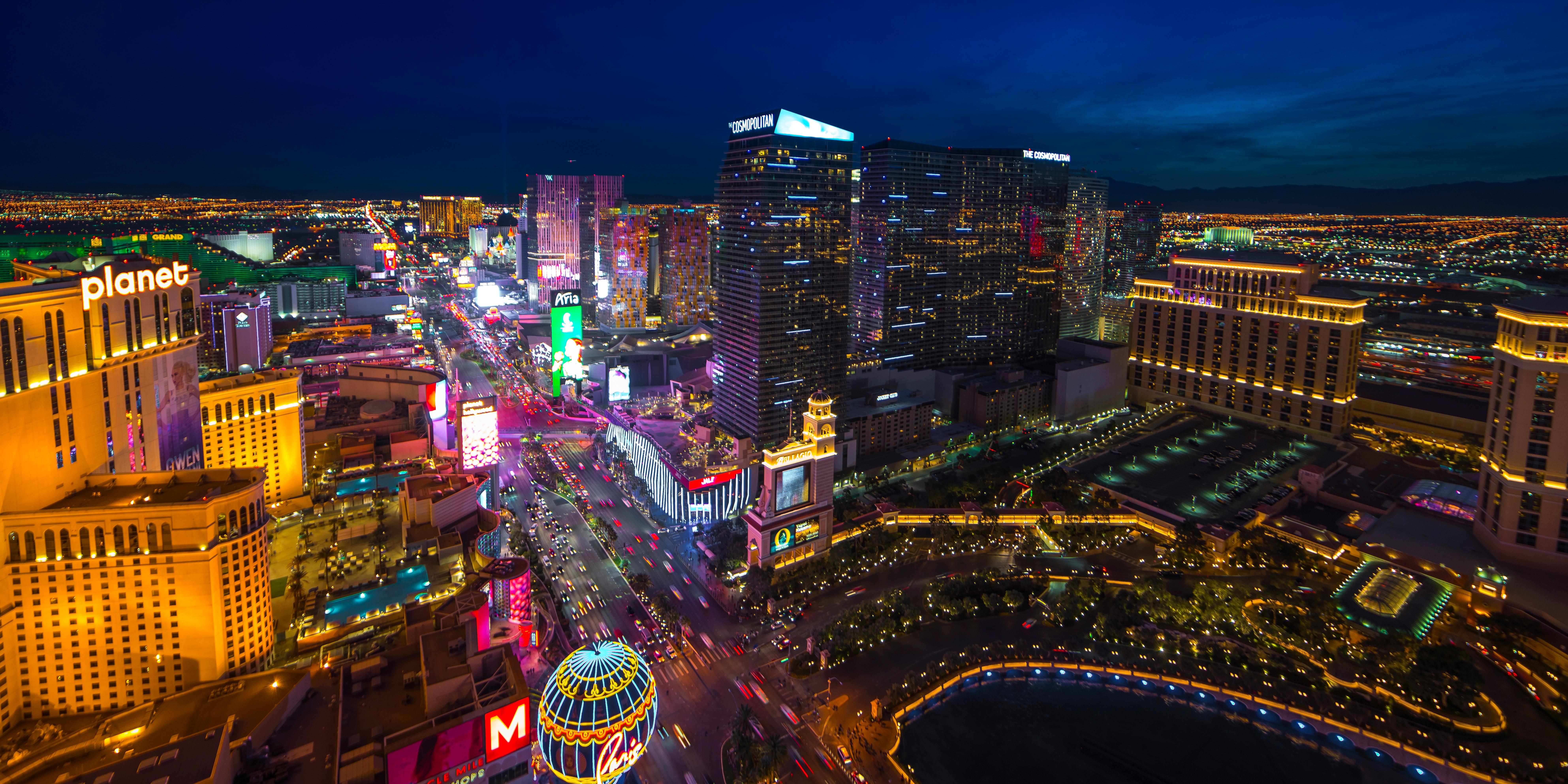 The view of the Las Vegas Strip from Paris Las Vegas