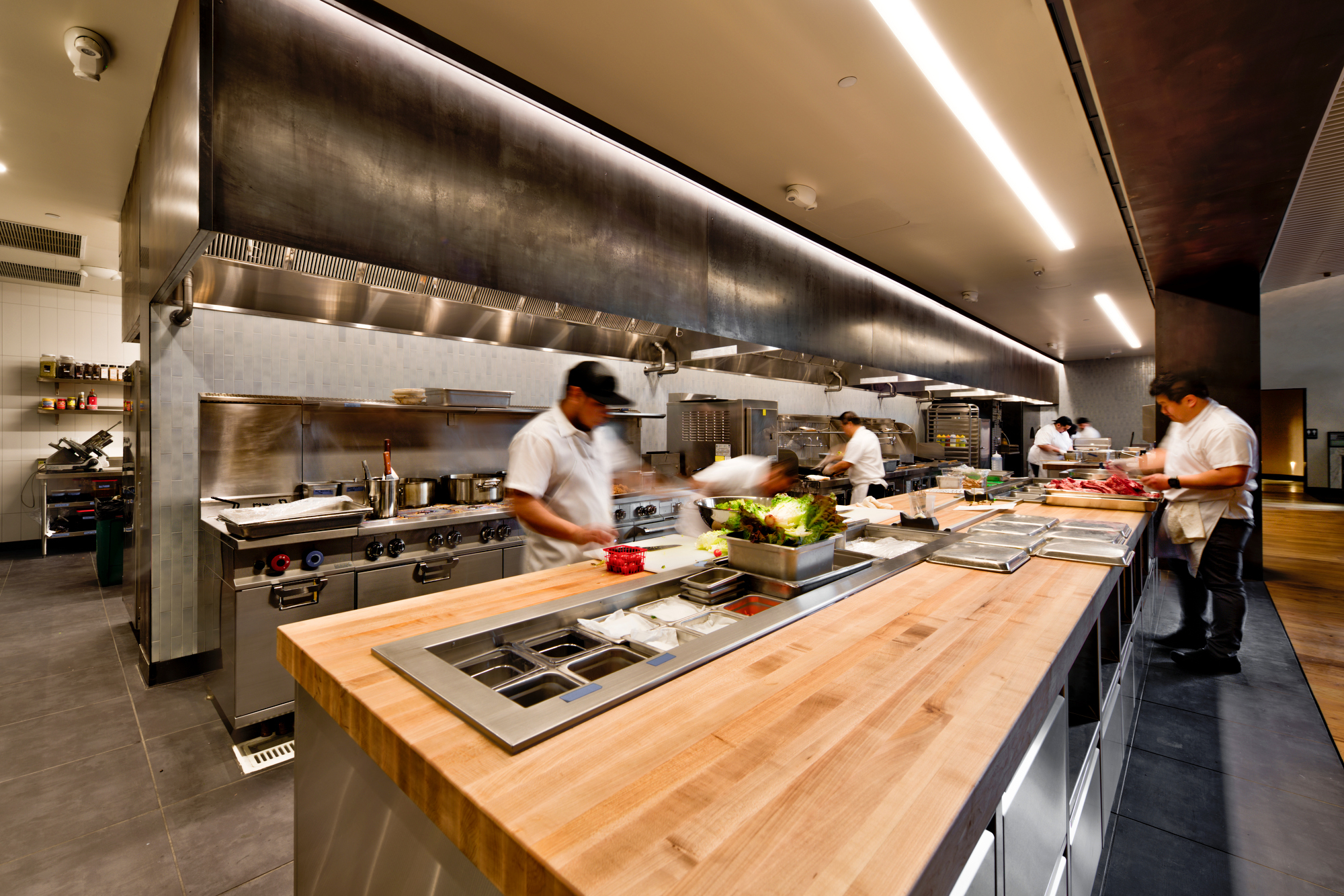 The open kitchen at The Slanted Door