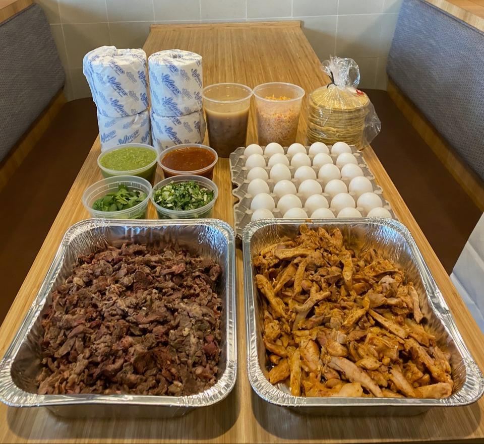 A coronavirus taco kit from Guerrilla Tacos in Los Angeles