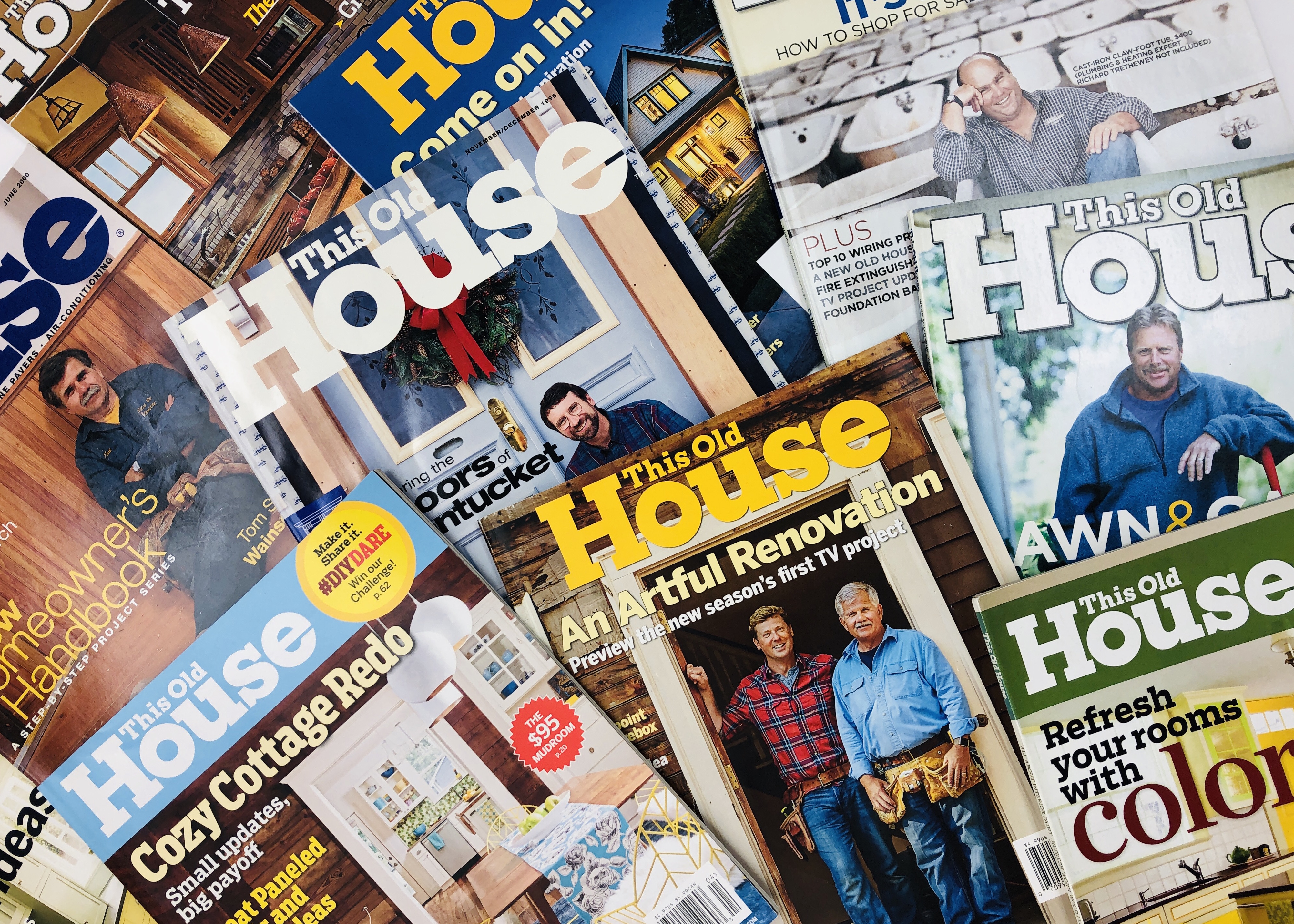 This Old House Magazine Issues in a pile