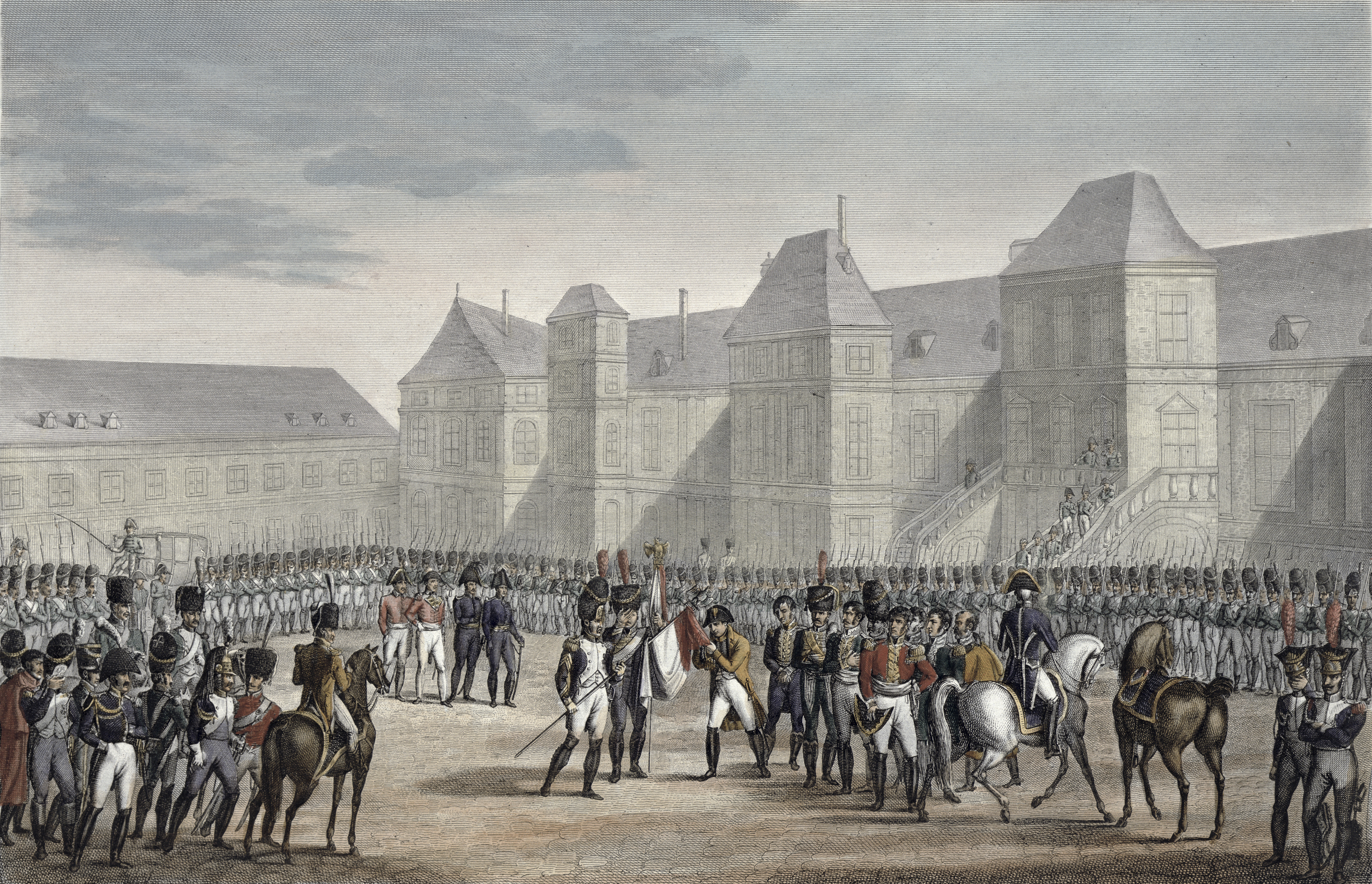 The Abdication Of Napoleon And His Departure From Fontainebleau For Elba 20th April 1814