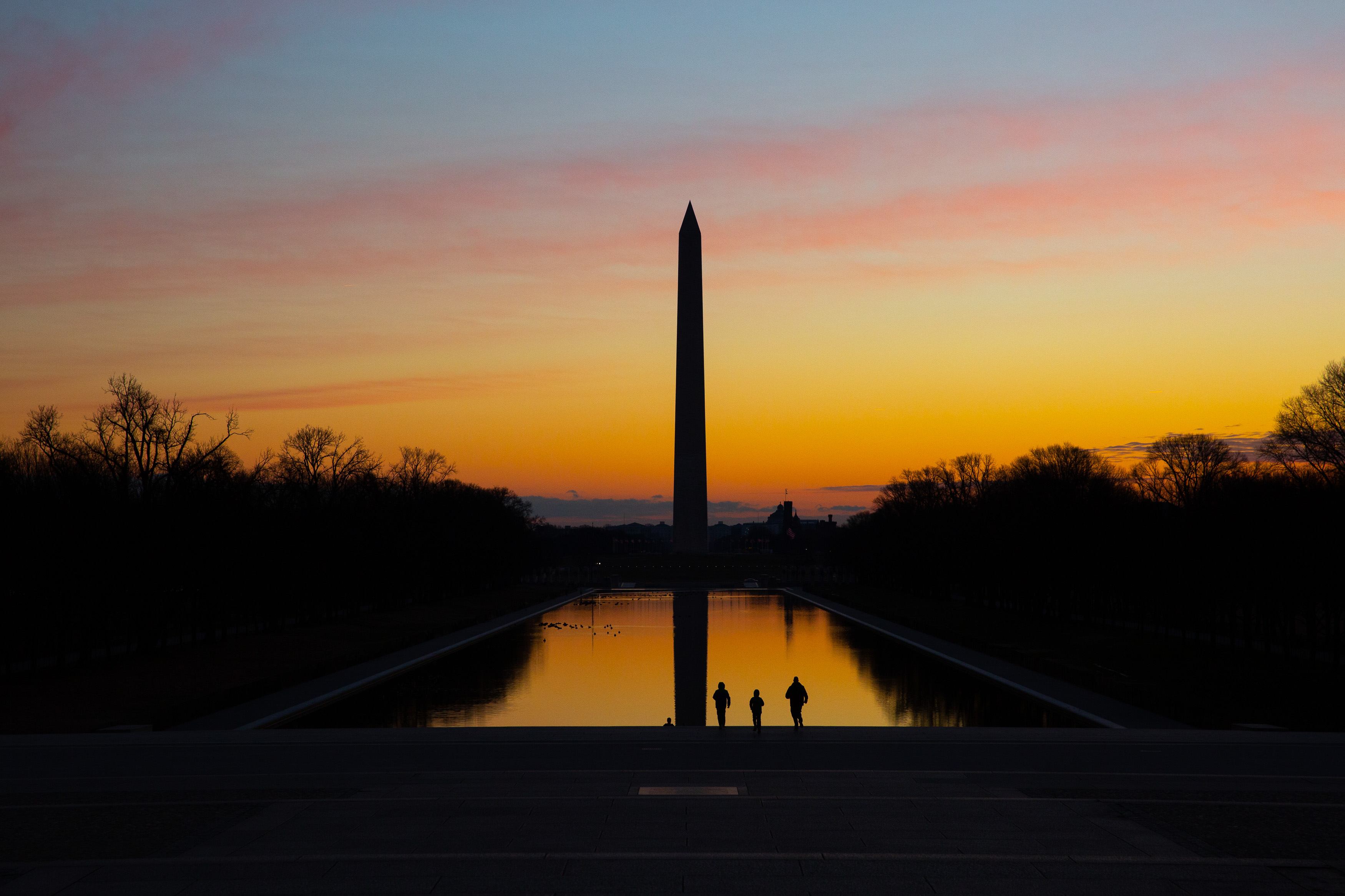 Sunrise Over The Washington Monuments