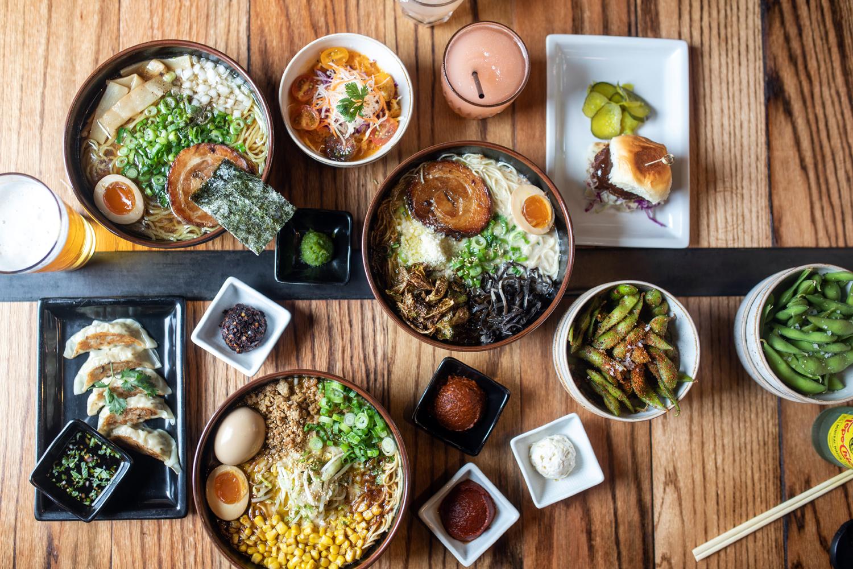 Dishes from Ramen Tatsu-ya
