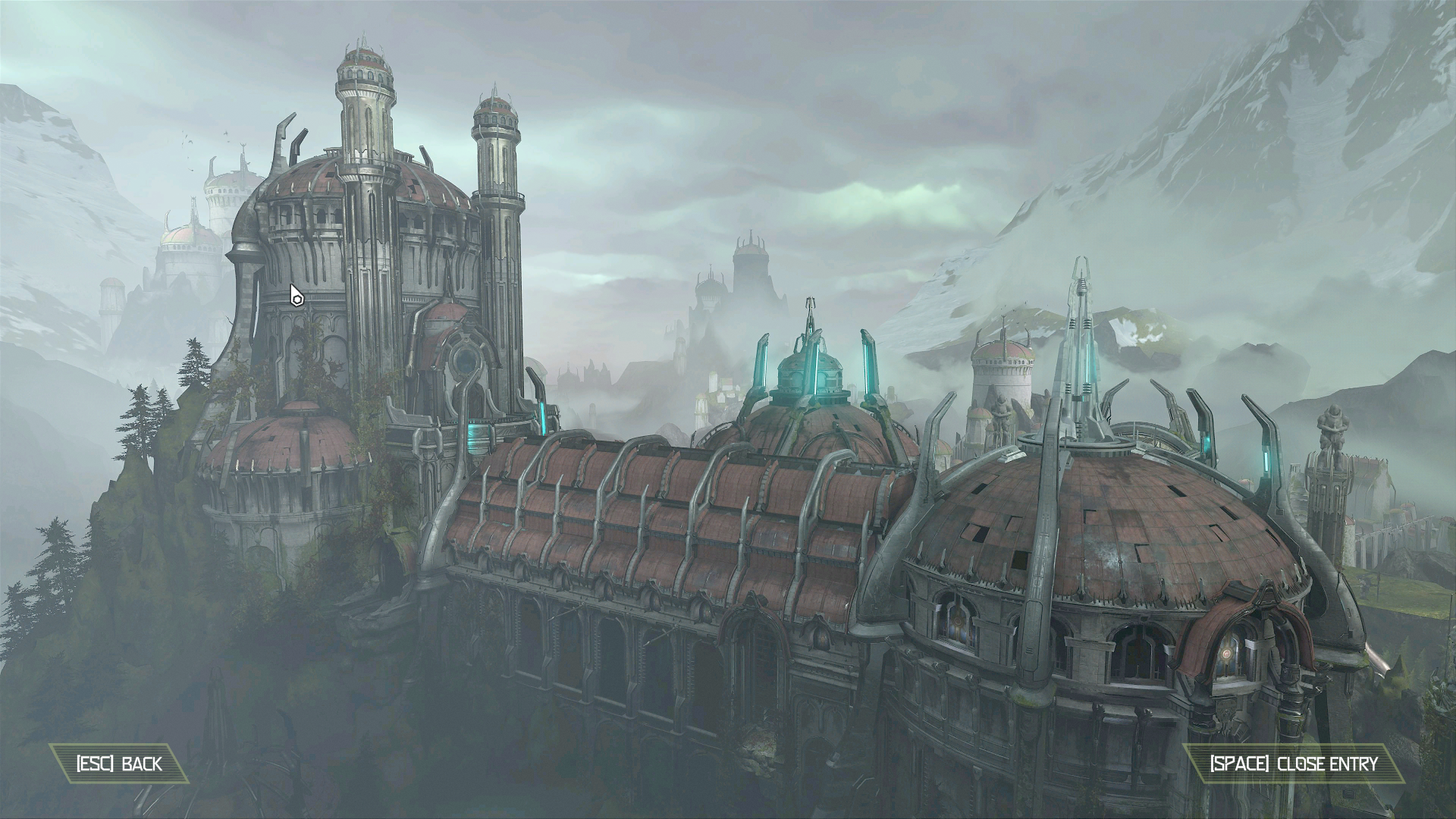 The large building in Exultia from Doom Eternal
