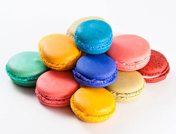 A colorful stack of macaroons.