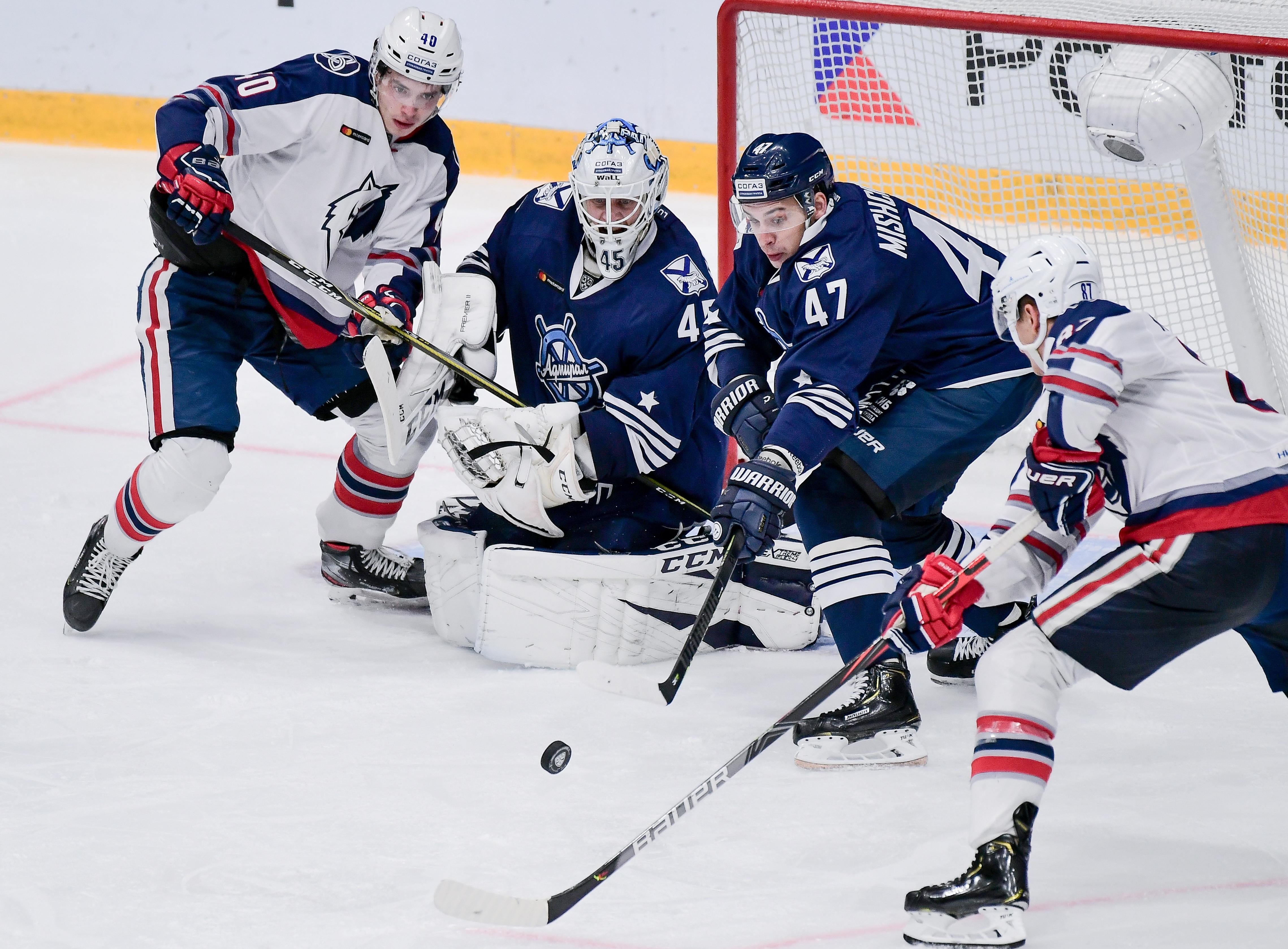 Kontinental Hockey League: Admiral Vladivostok 2 - 0 Neftekhimik Nizhnekamsk