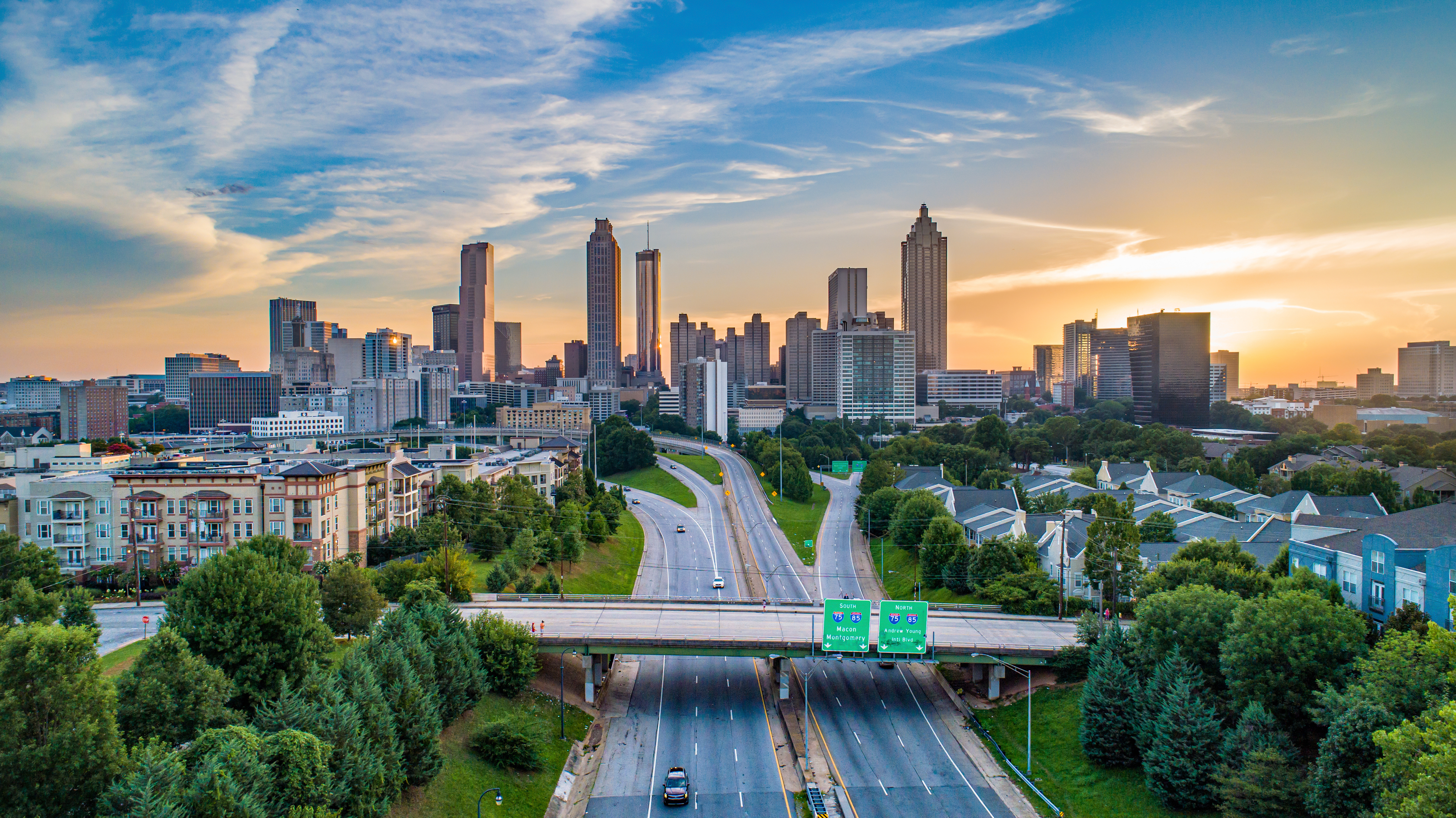Downtown Atlanta skyline from the connector