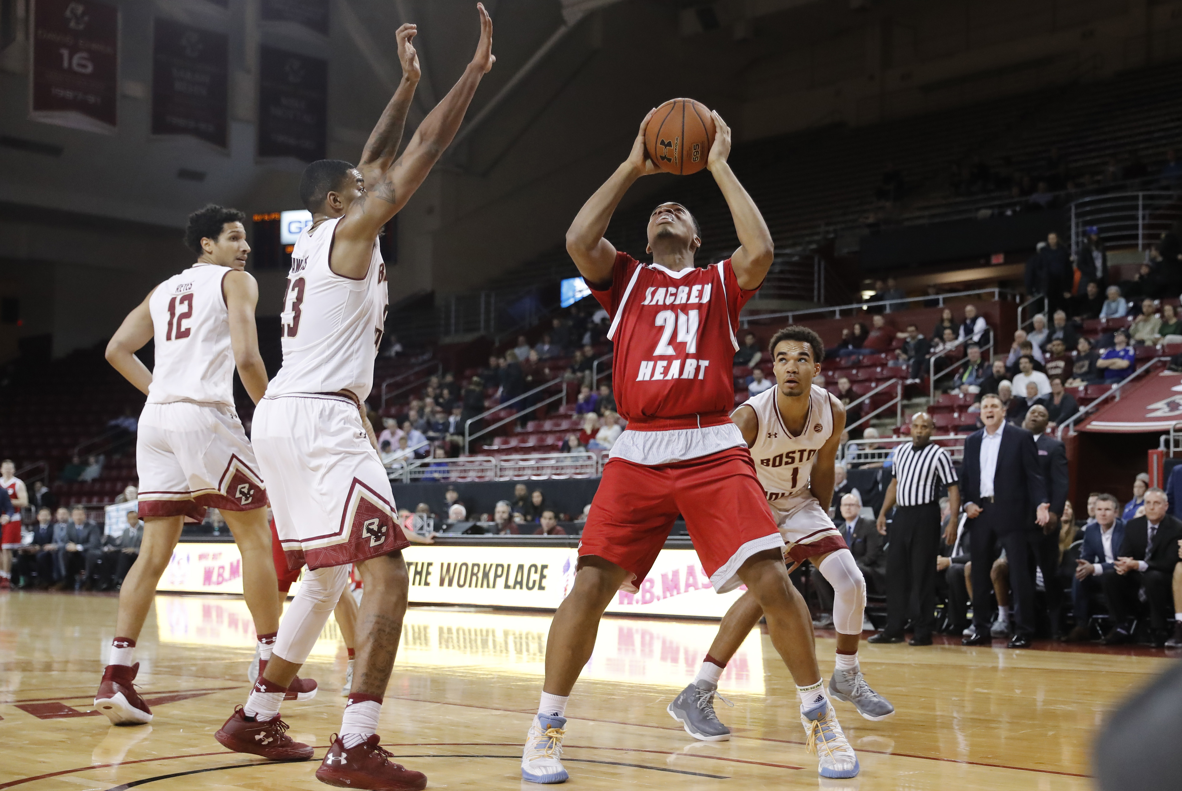 COLLEGE BASKETBALL: NOV 14 Sacred Heart at Boston College