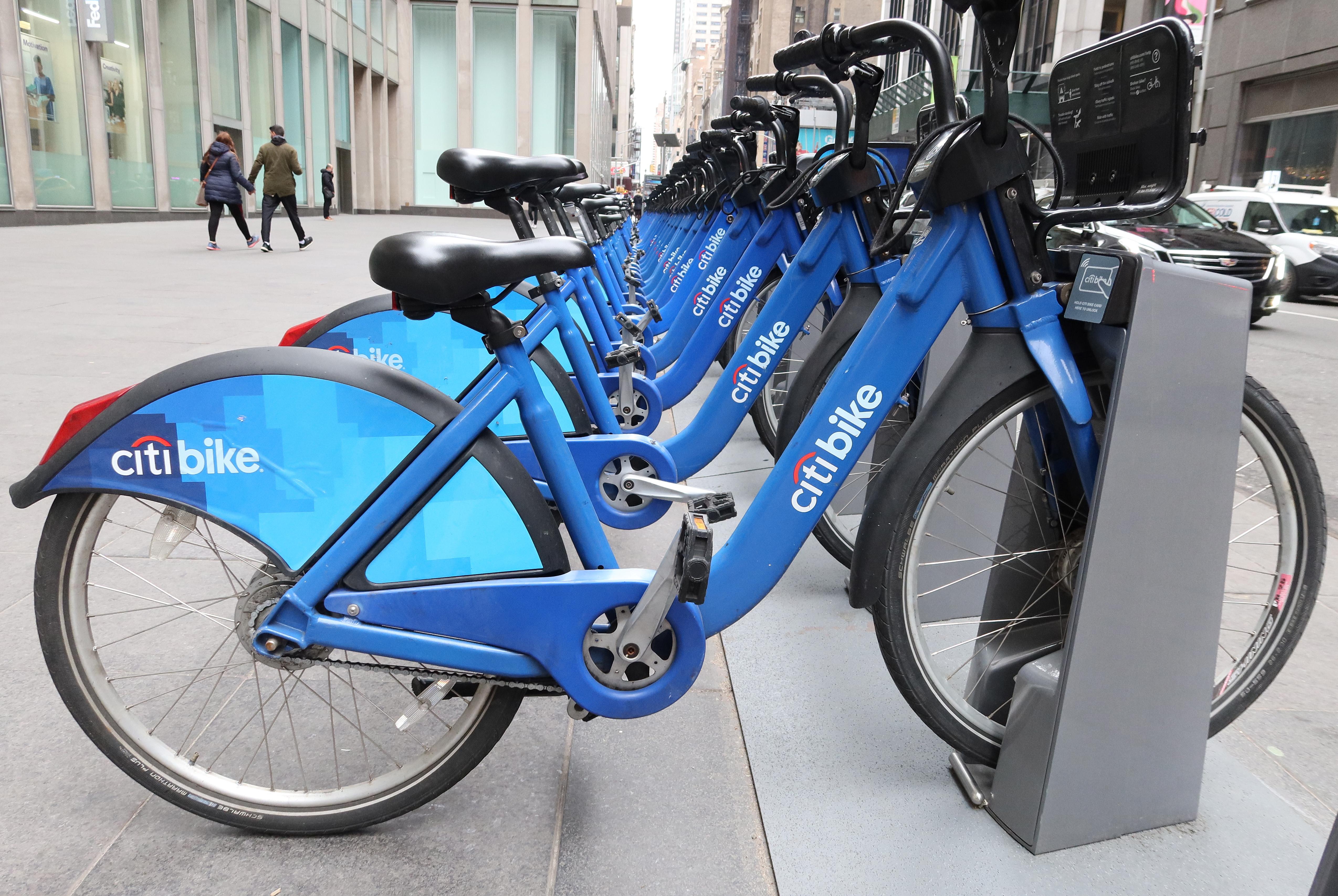 Citibike顺风车自行车在纽约市