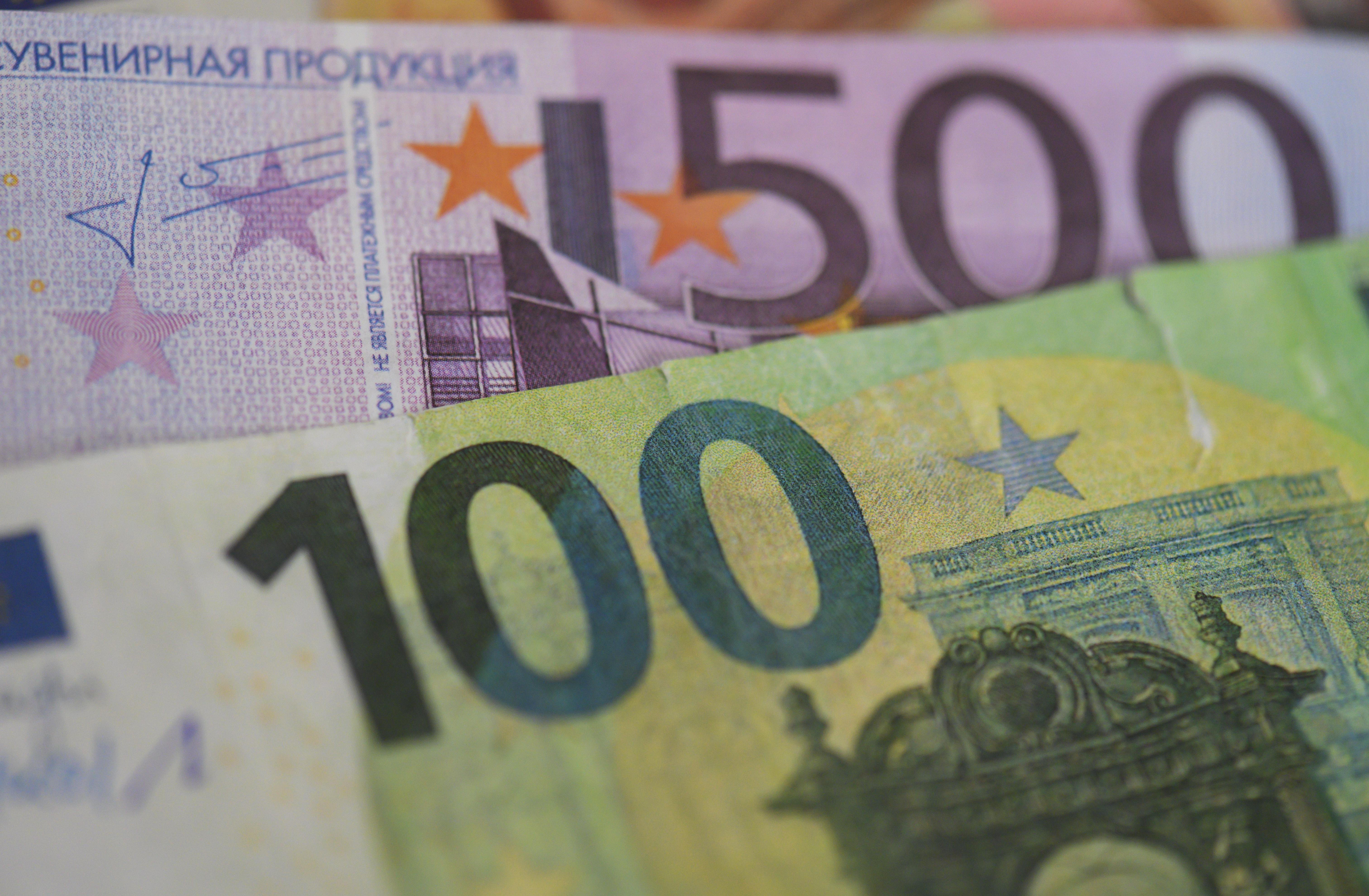 Counterfeit euro money