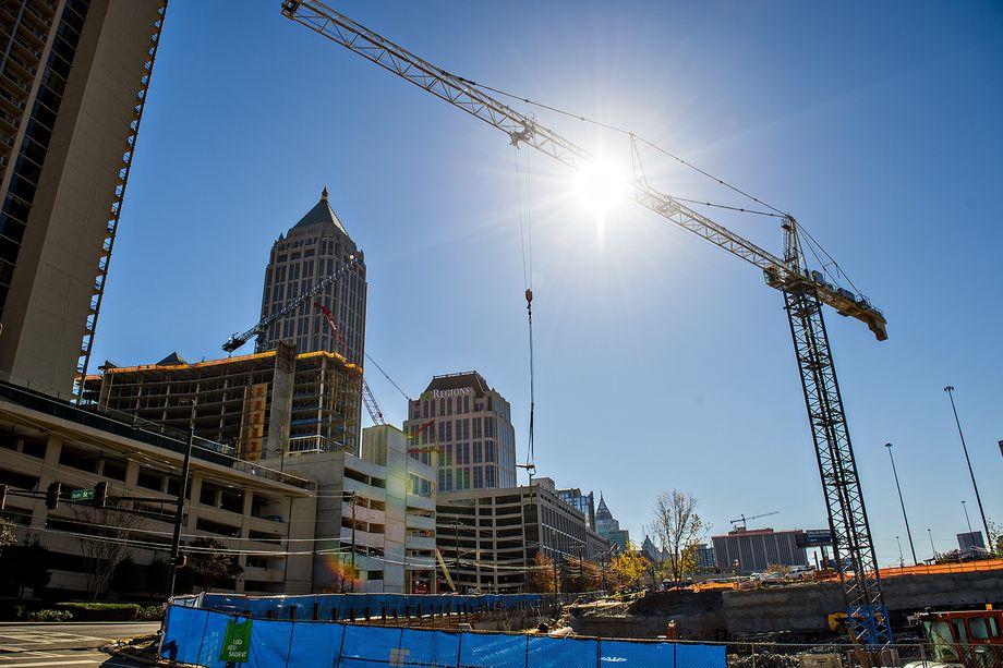 A photo of Midtown Atlanta construction in 2016.