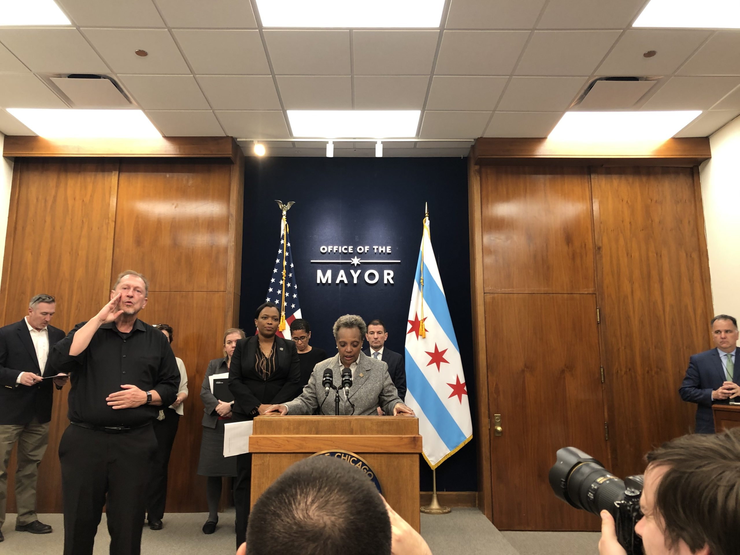 Chicago Mayor Lori Lightfoot speaks Friday about how the state-ordered closure of schools for two weeks, to guard against the novel coronavirus, will affect city schools and families.