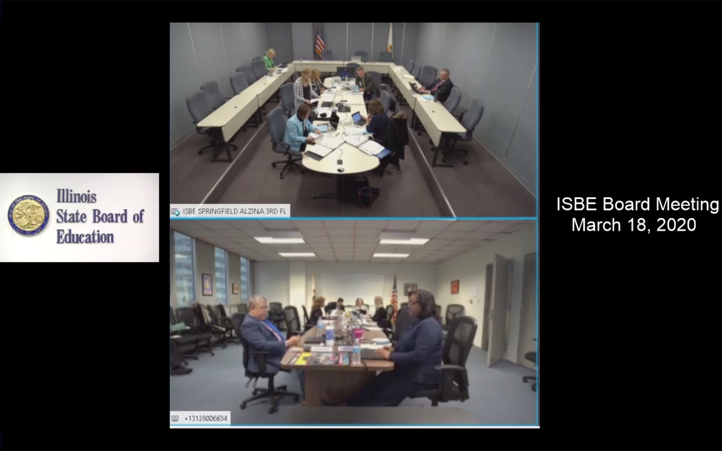 The Illinois State Board of Education met in person, with some people calling in, on Wednesday.