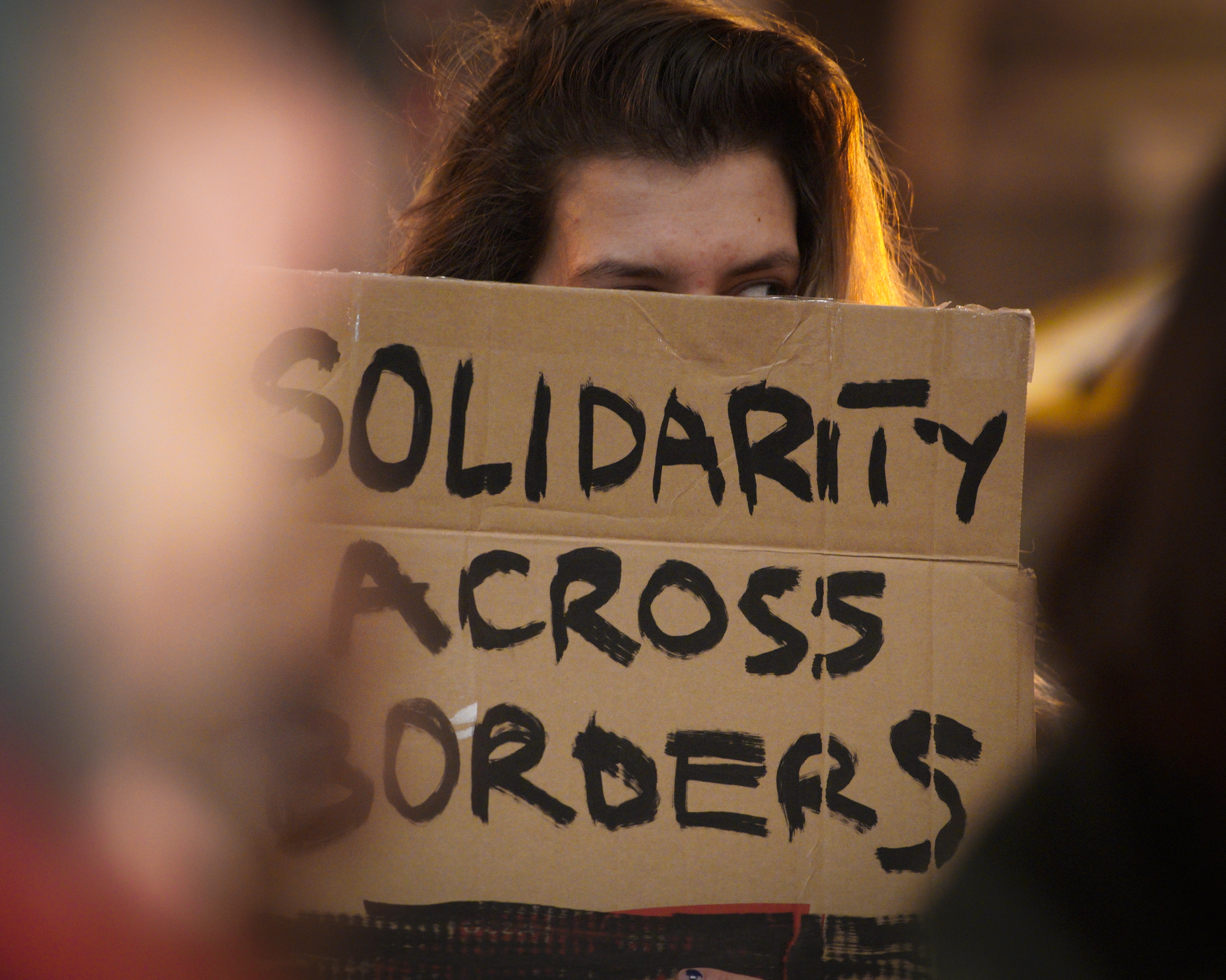 Demonstration Against Treatment Of Migrants By EU In Greece