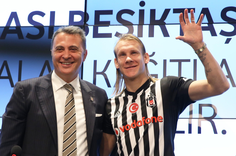 Besiktas new transfer Domagoj Vida' signing ceremony