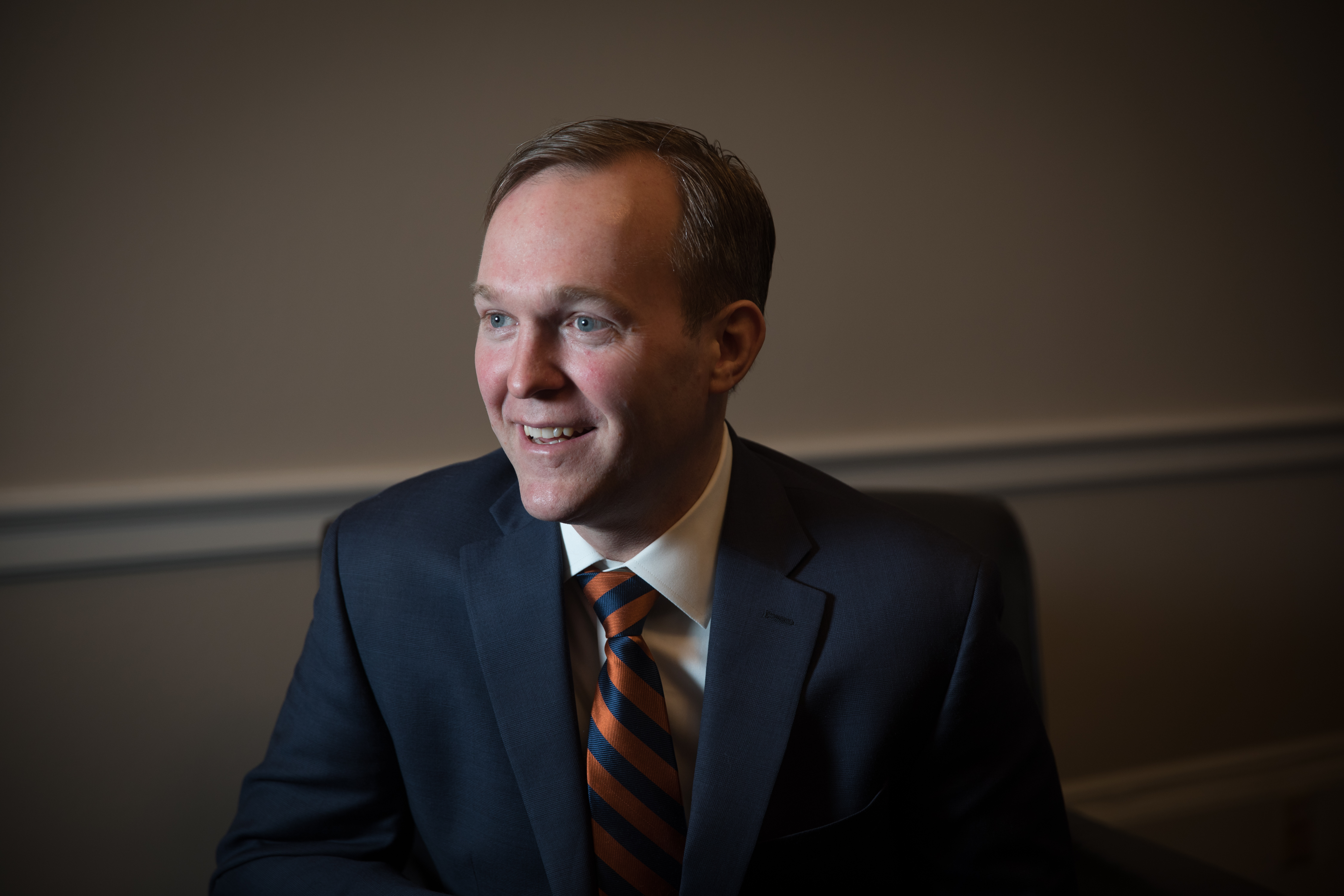 Rep. Ben McAdams, D-Utah, holds interview in his new office on Capitol Hill in Washington, D.C., on Thursday, Jan. 3, 2019.