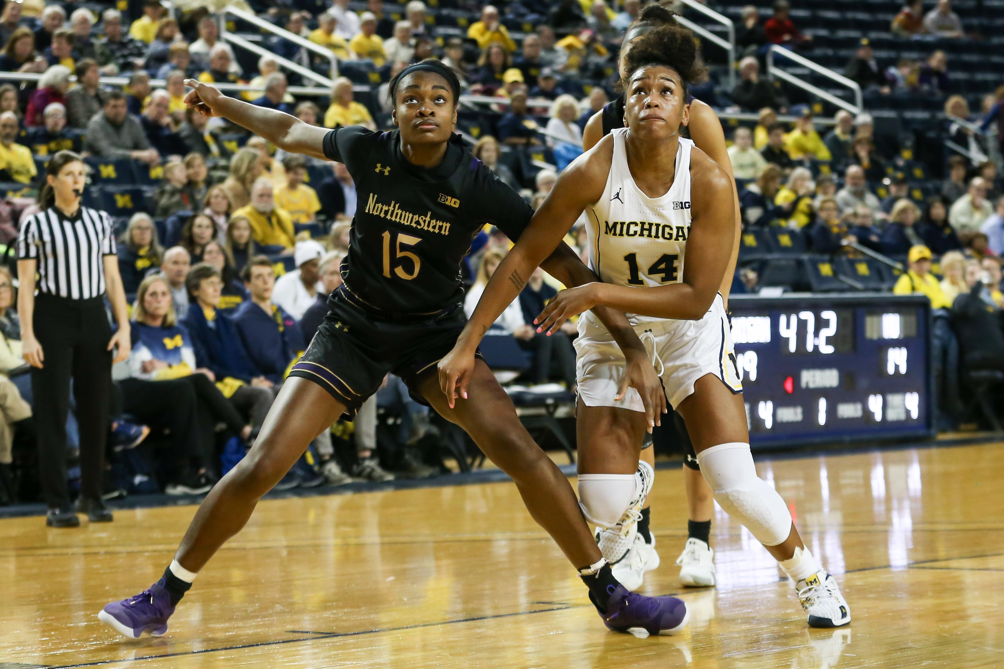 COLLEGE BASKETBALL: FEB 13 Women's Northwestern at Michigan