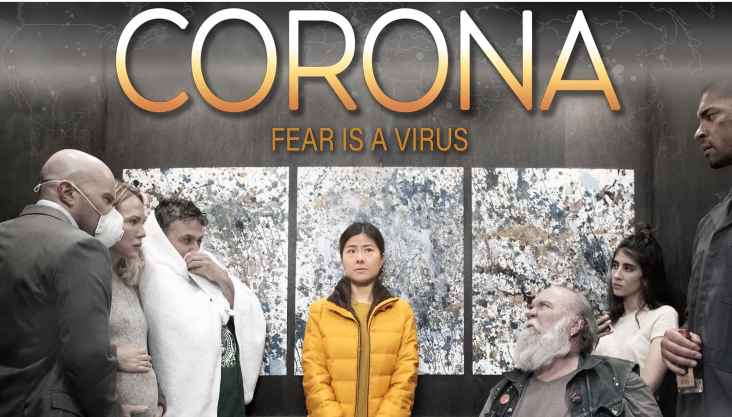 """The poster for Mostafa Keshvari's film """"Corona."""""""
