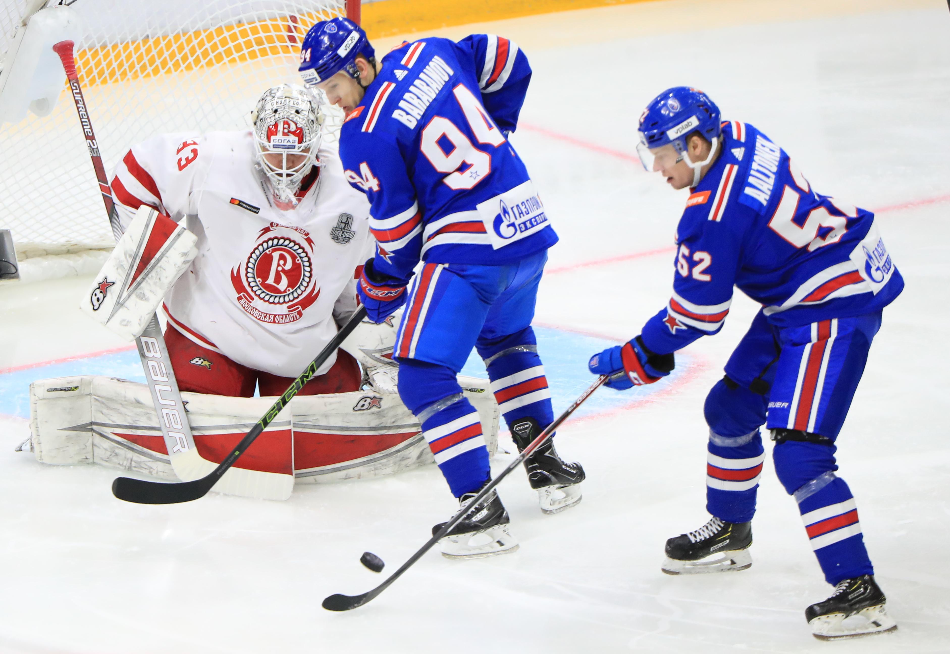 KHL Western Conference Quarterfinal, Leg 1: SKA St Petersburg vs Vityaz Moscow Region