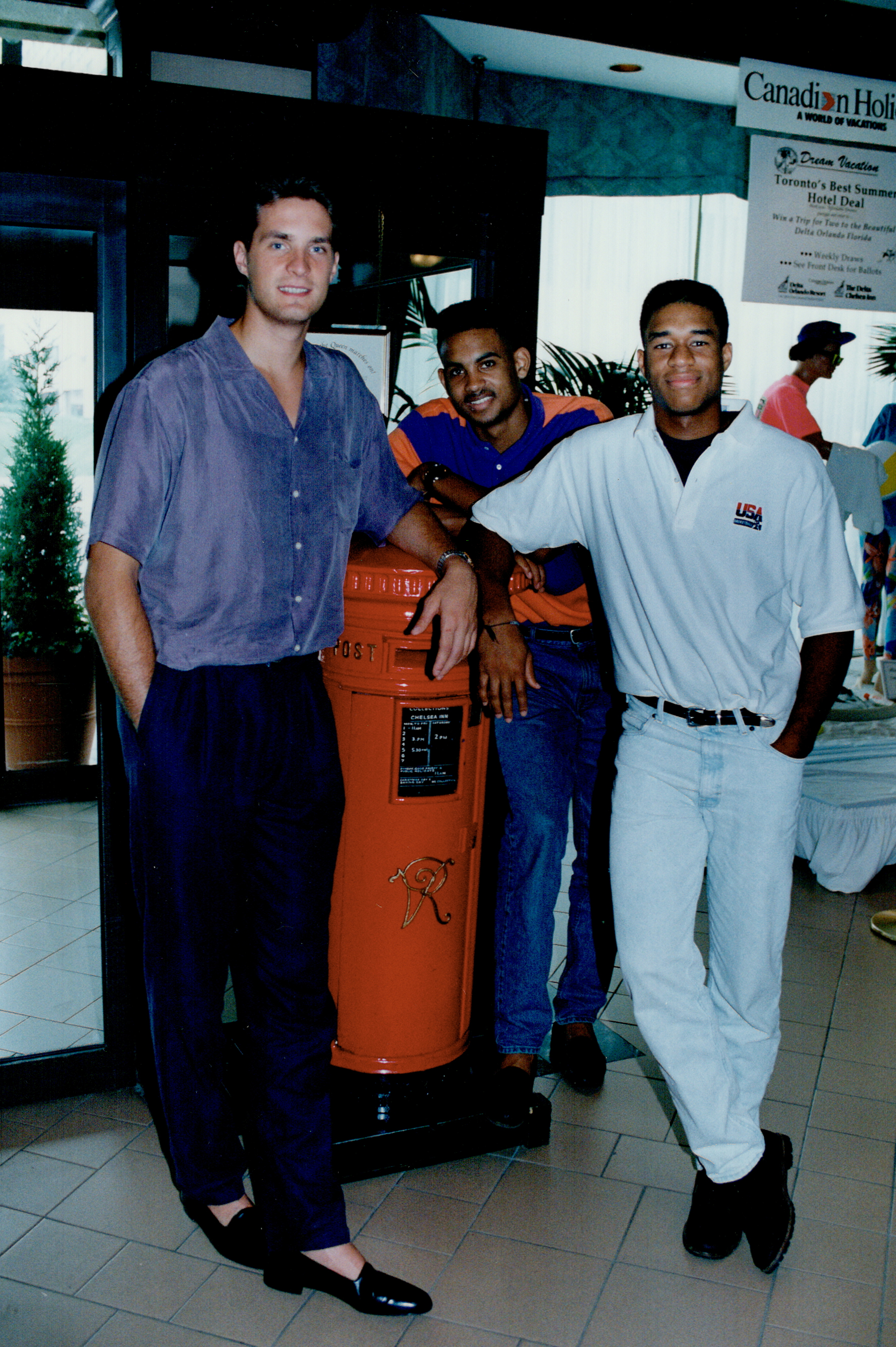 Christian Laettner, Grant Hill and Thomas Hill in 1991