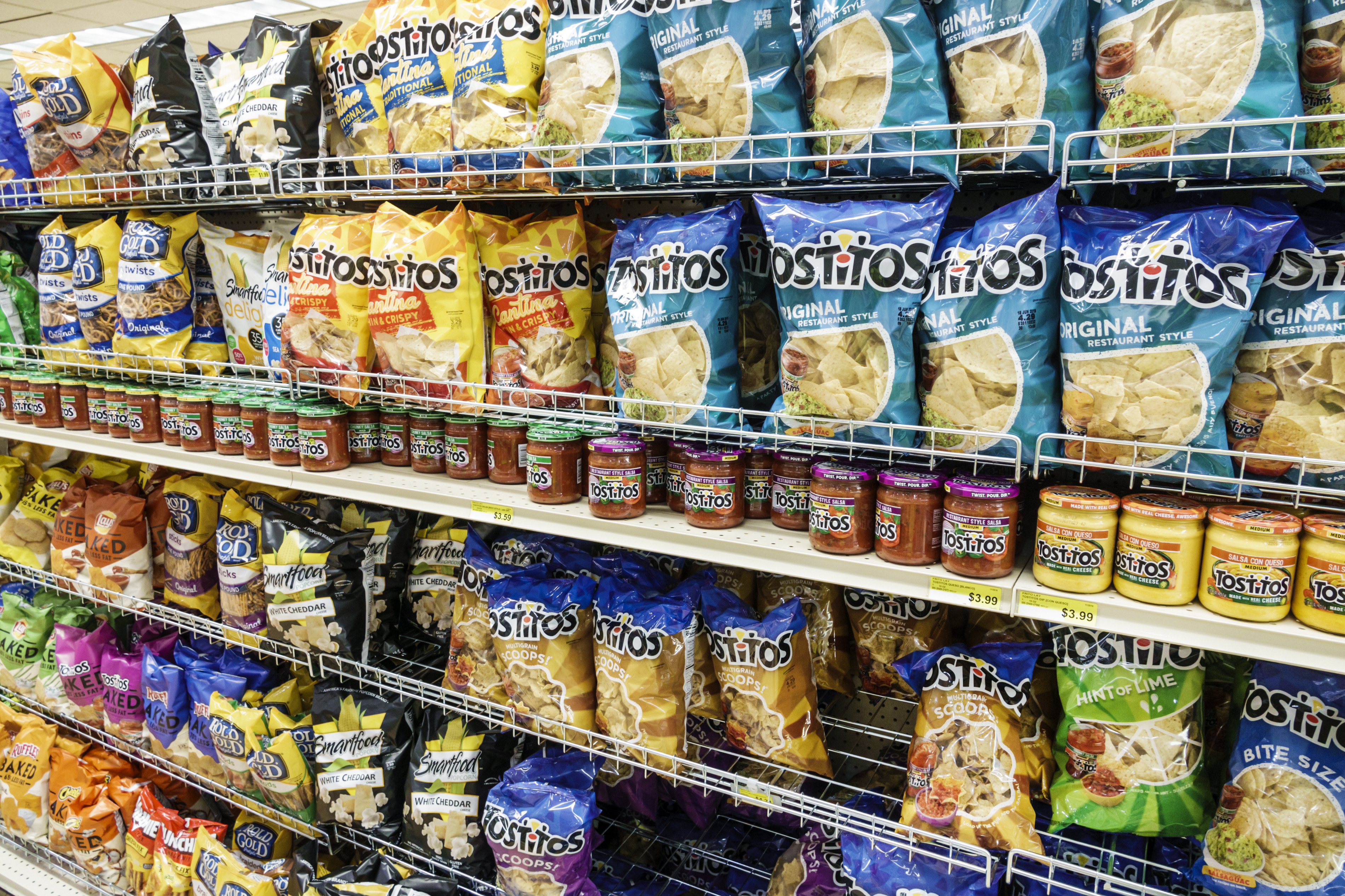 Sanibel Island, Jerrys Foods, grocery store, chips aisle