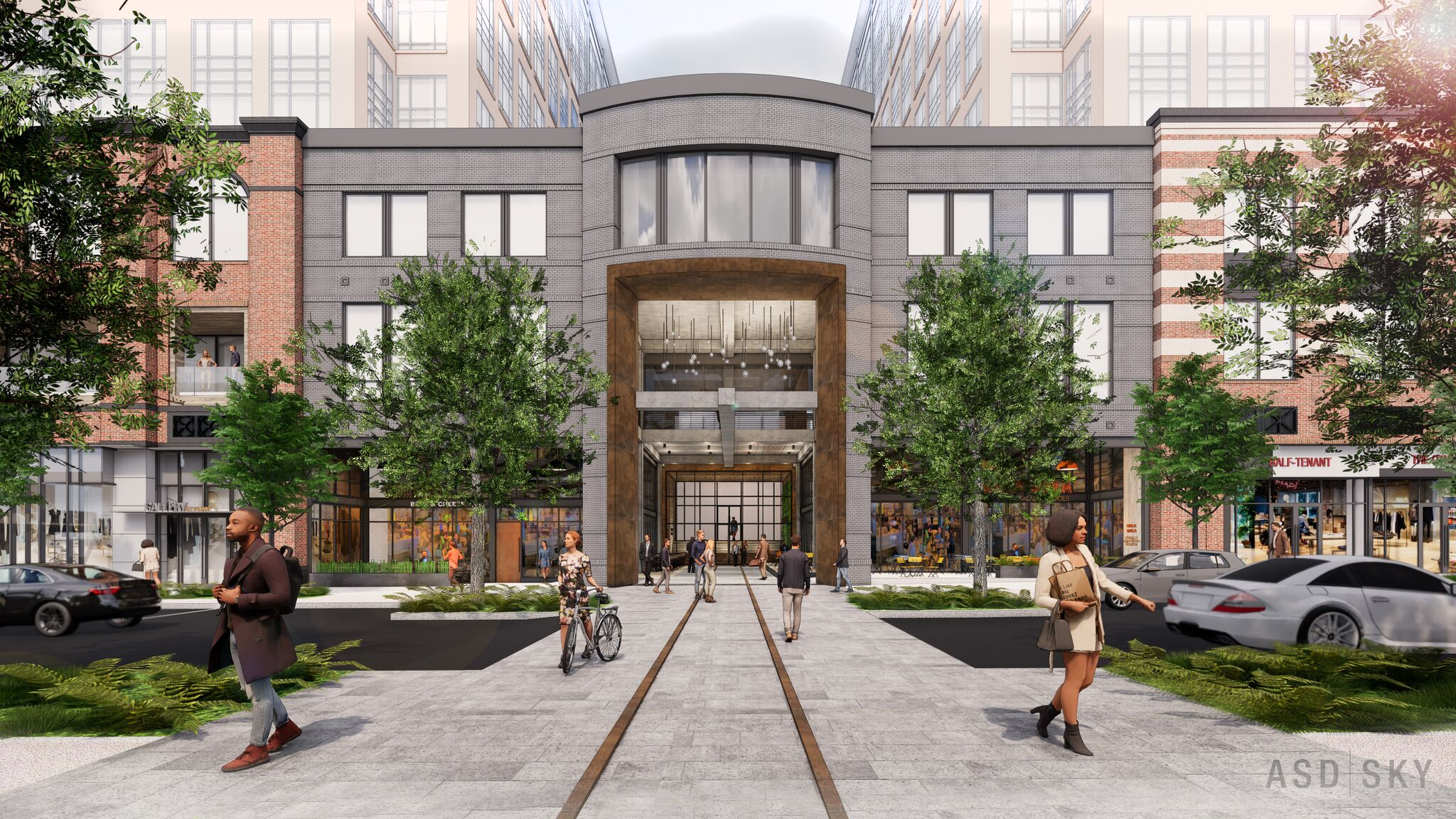 A rendering of a reimagined Main Street at the Lindbergh City Center.