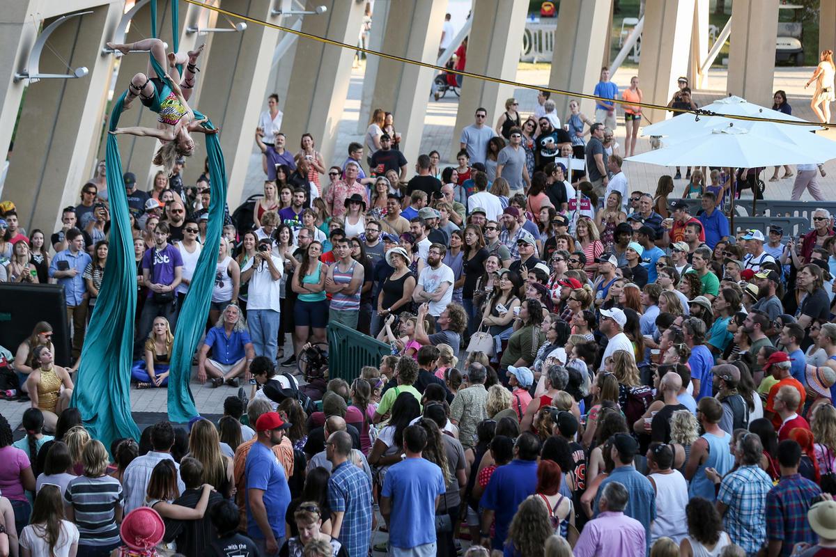 Members of Utah Aerial Arts perform at the Utah Arts Festival in Salt Lake City last year. The Arts Festival runs June 22-25.