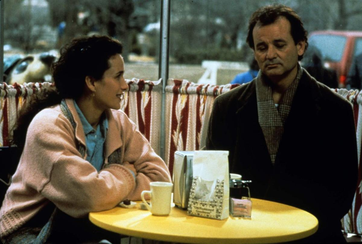 Bill Murray and Andie MacDowell in Groundhog Day (1993).