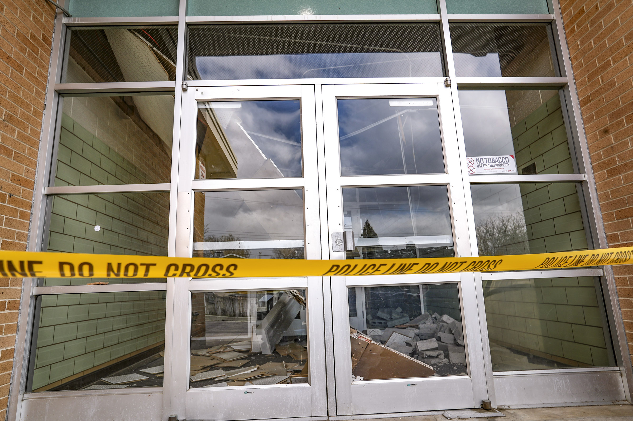Damage to a ceiling inside West Lake STEM Junior High School in West Valley City is pictured on Tuesday, March 31, 2020. The damage was caused by a 5.7 magnitude earthquake that was centered near Magna on March 18.