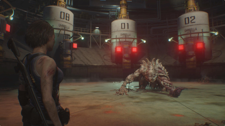 Resident Evil 3 Disposal Center Nemesis boss fight