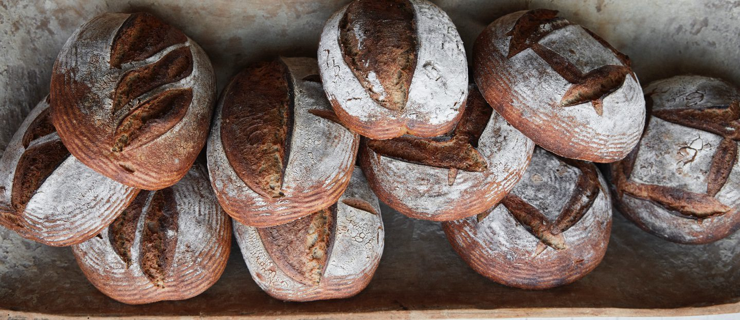 Loaves of bread.