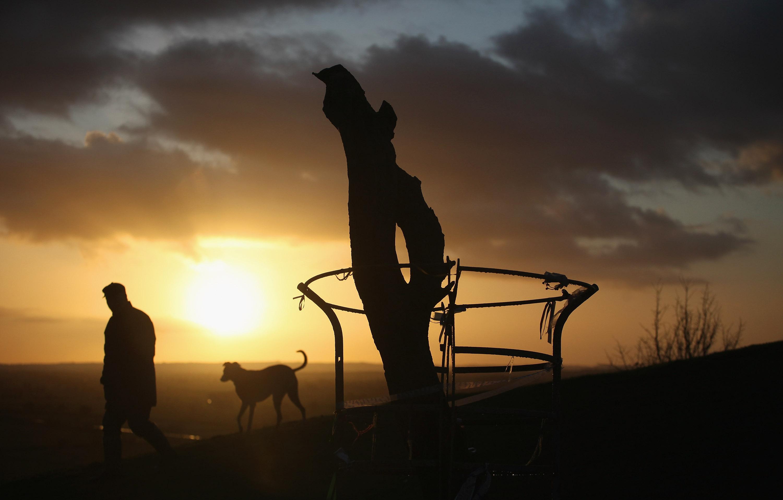 Winter Sunrise On The Somerset Levels