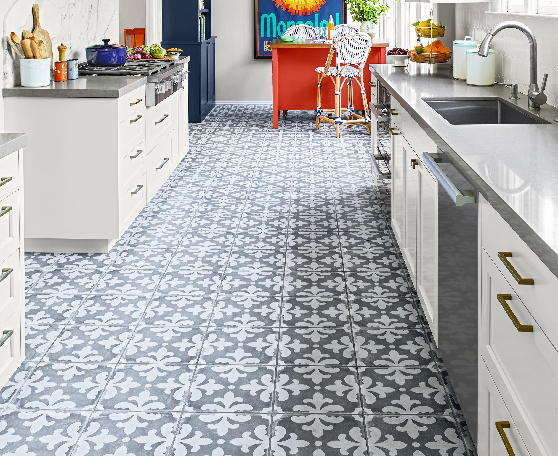 Sleek Kitchen Floor, Patterned Floor Tile