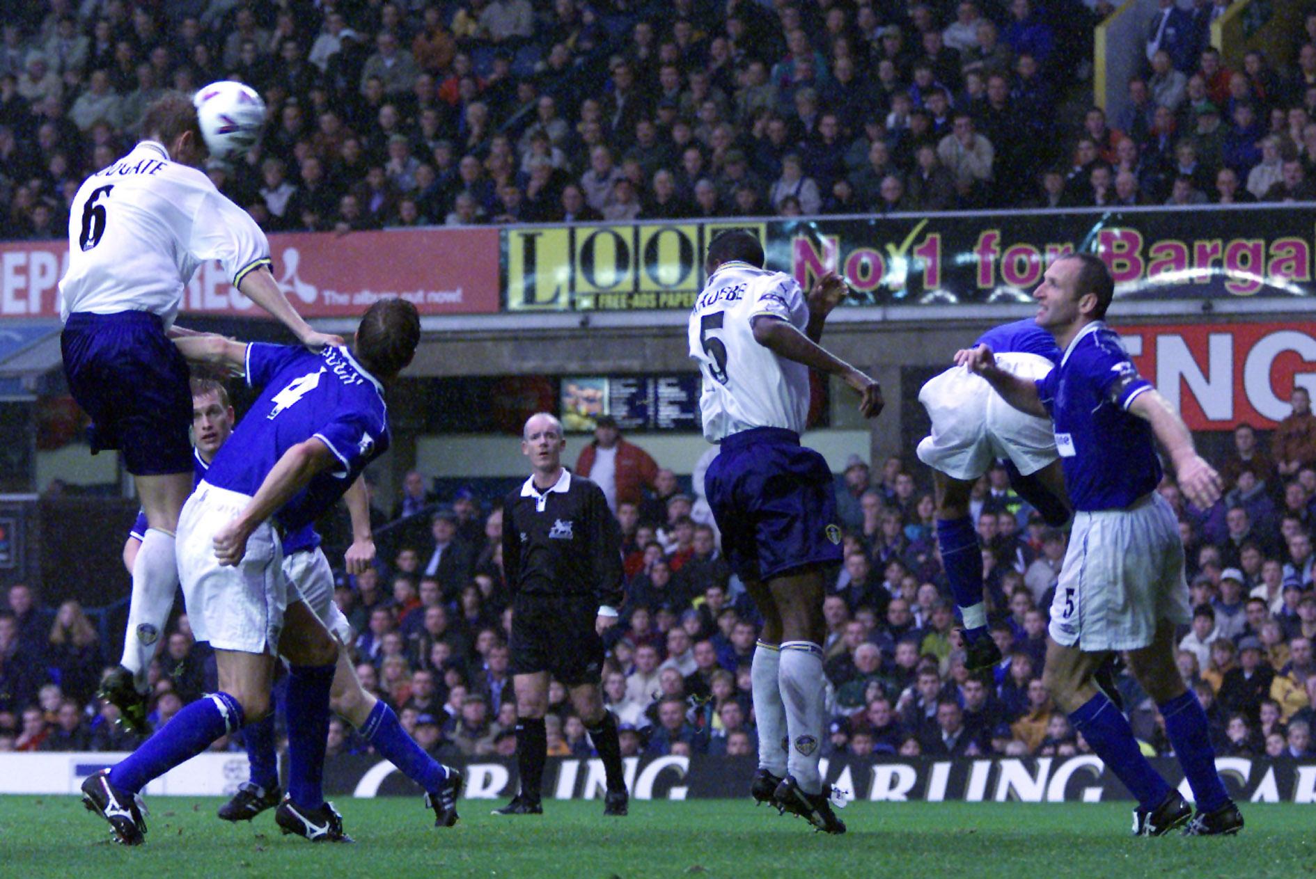 Everton v Leeds/Woodgate goal