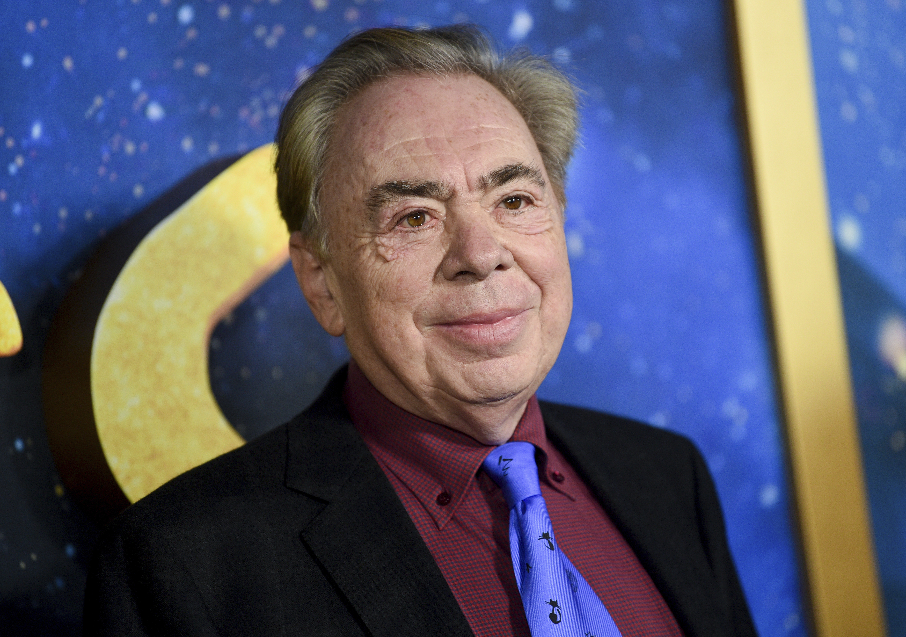 "Composer and executive producer Andrew Lloyd Webber attending the world premiere of the movie version of ""Cats"" in New York in 2019."