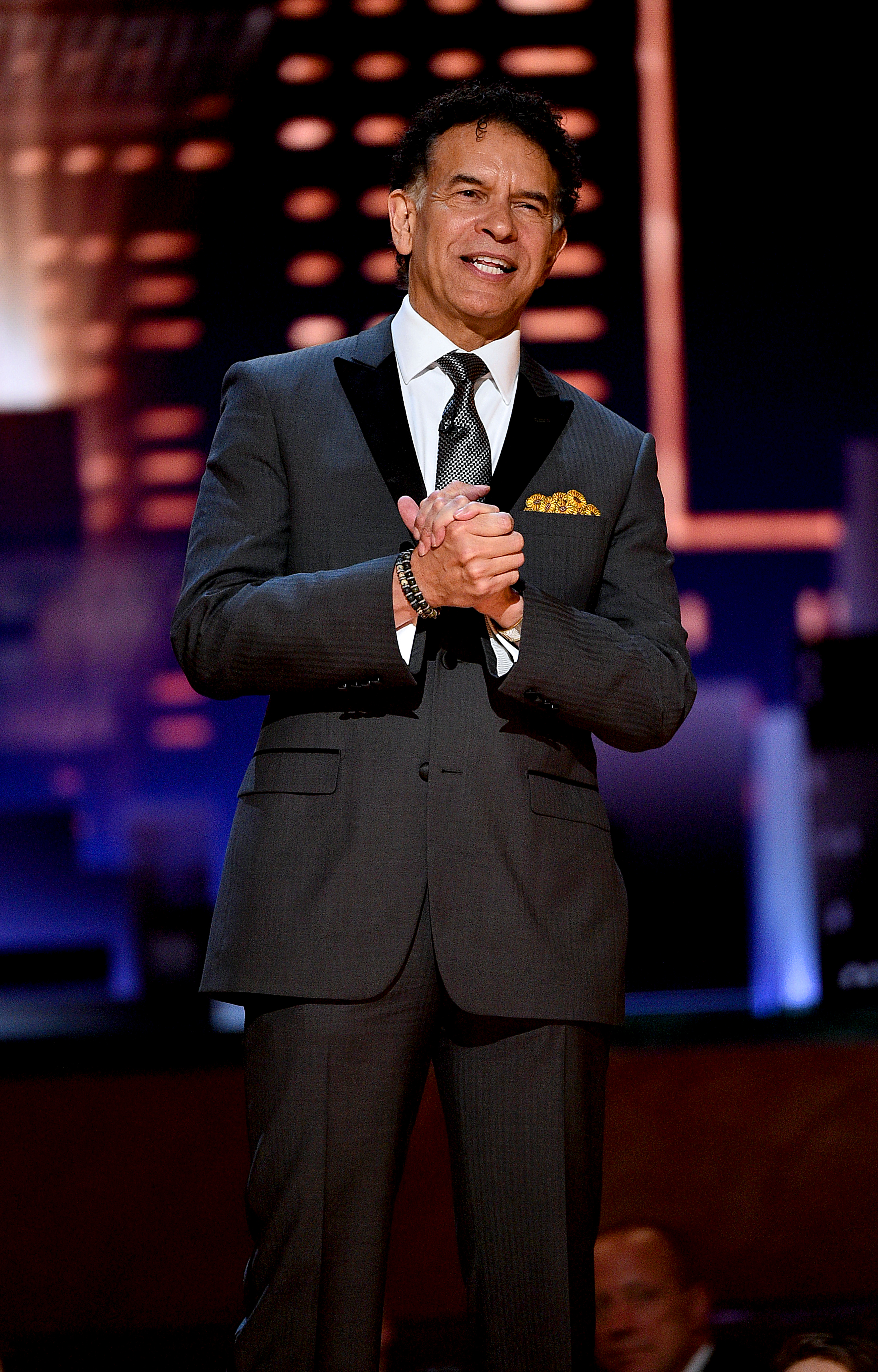 Brian Stokes Mitchell speaks onstage during the 2019 Tony Awards at Radio City Music in New York City.