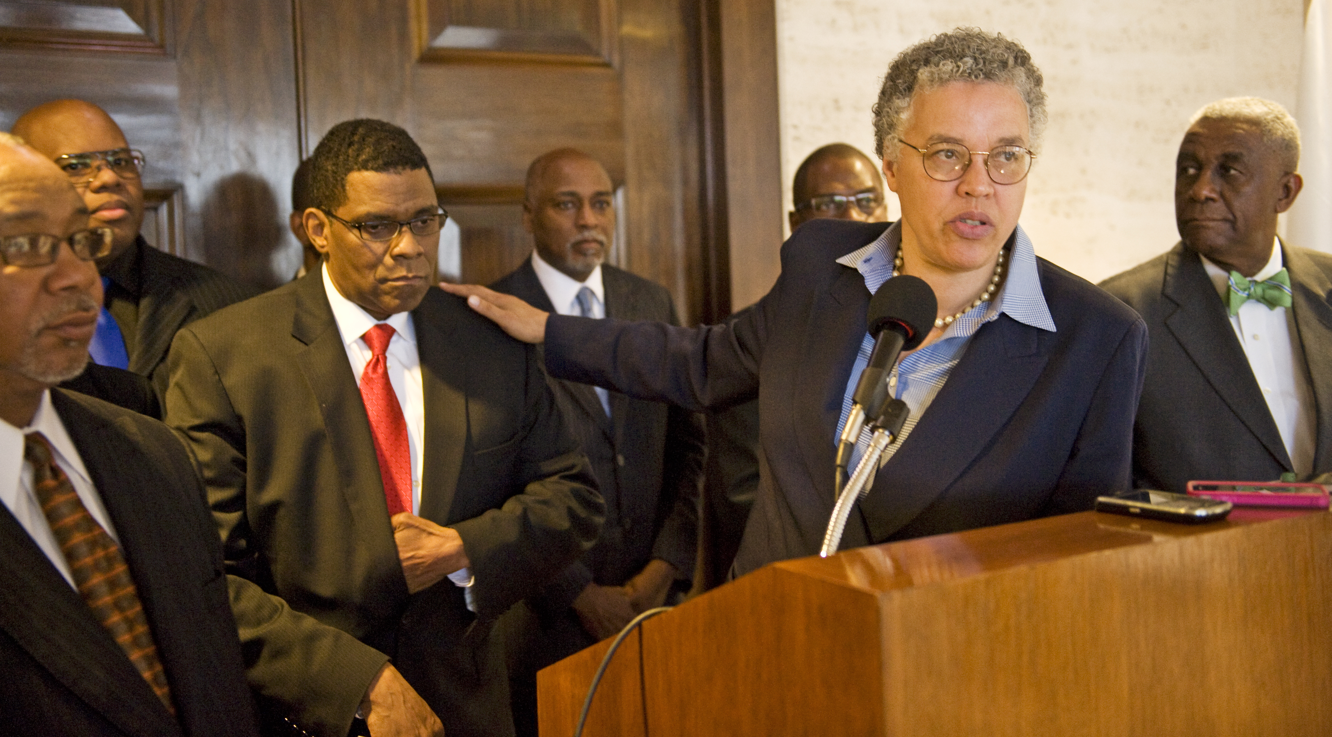 Cook County Board President Toni Preckwinkle introduces Dr. Terry Mason