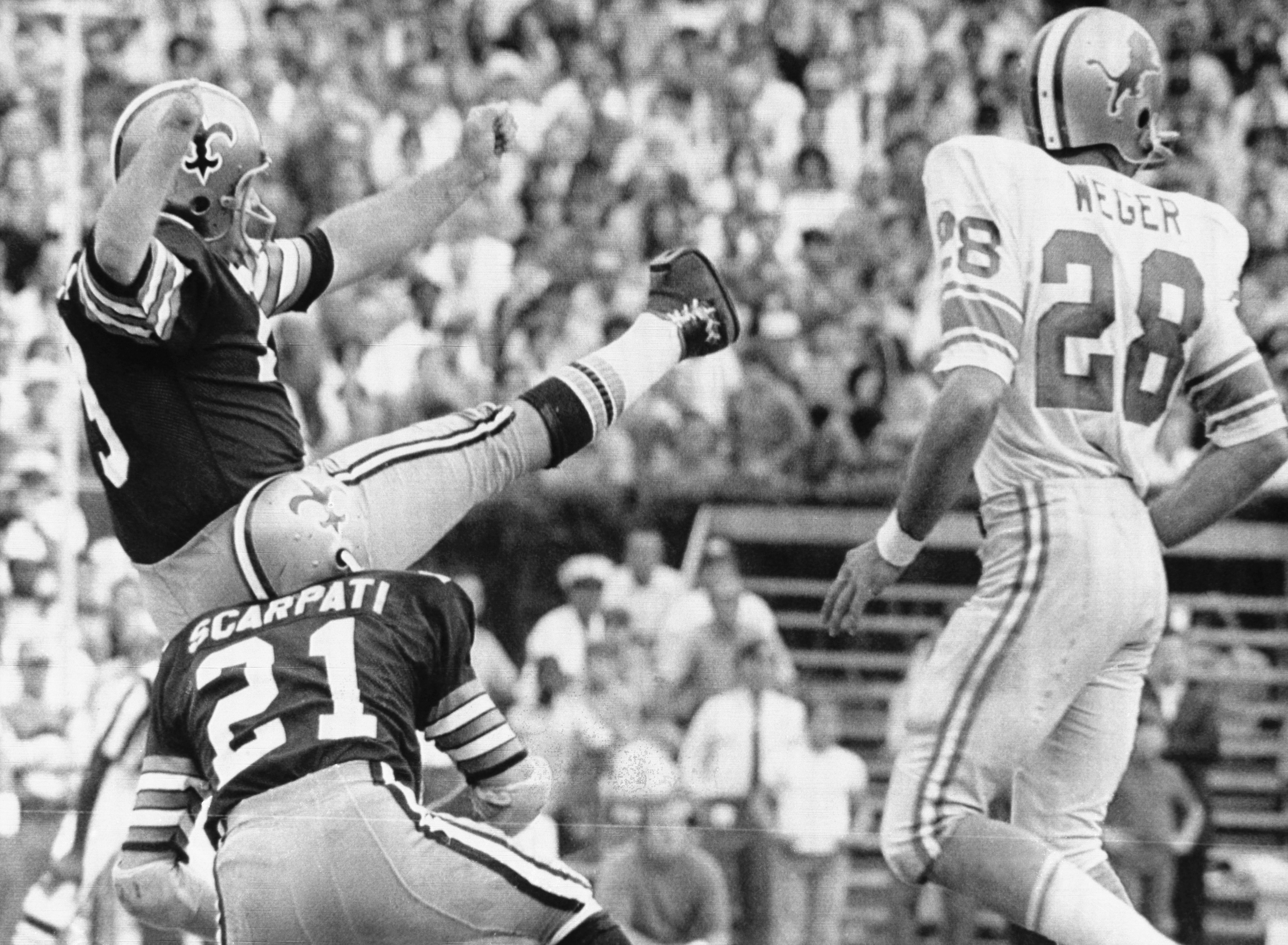 Tom Dempsey Kicking Record-Setting Field Goal