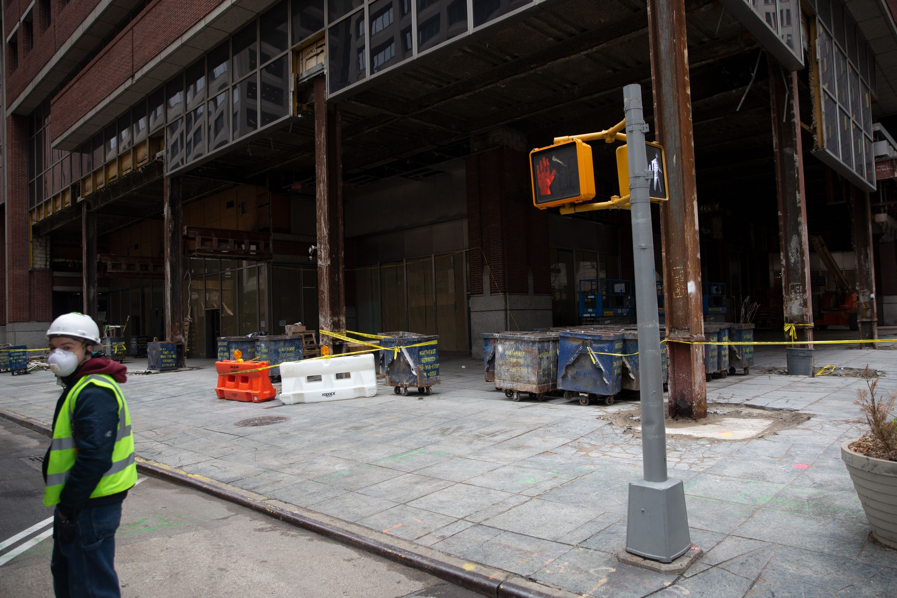 A development at 7 Hanover Sq. in Manhattan was considered an essential project during the coronavirus outbreak.