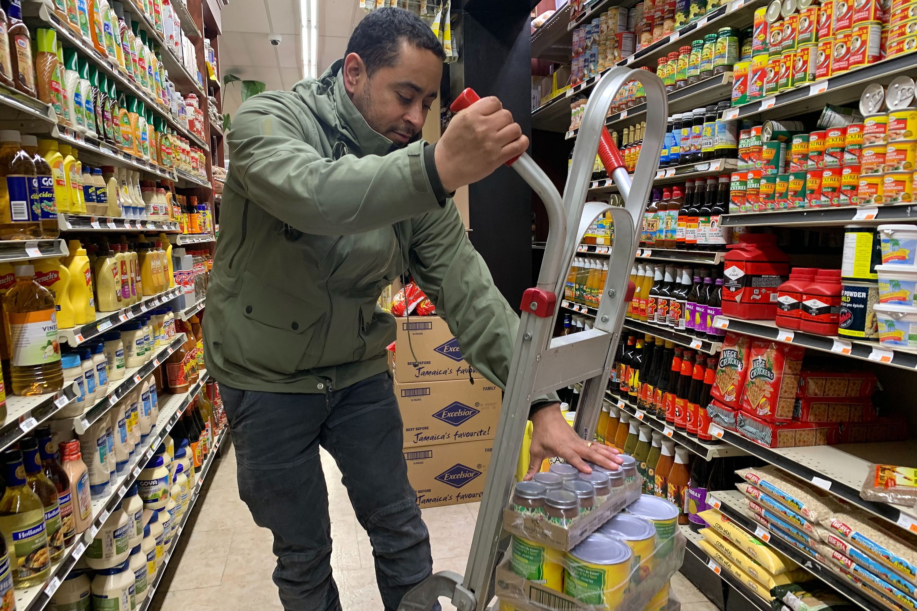 Ozone Park-based Compare Foods manager Juan Martinez said that food suppliers have been struggling to meet demands from local grocery stores like his.