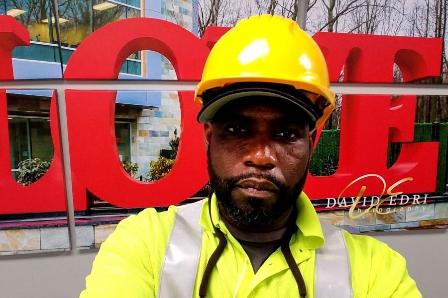 Technician Dexter Marshall works for the cable and internet company Altice.