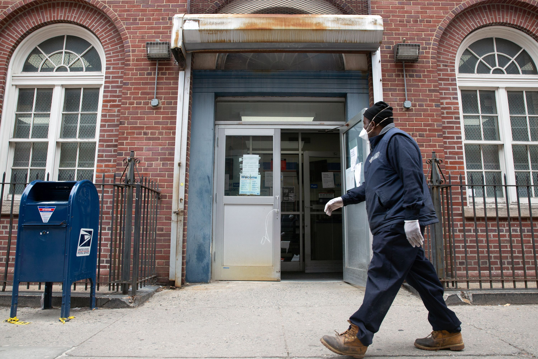 The Metropolitan Post Office in East Williamsburg was open despite worker concern over the coronavirus.