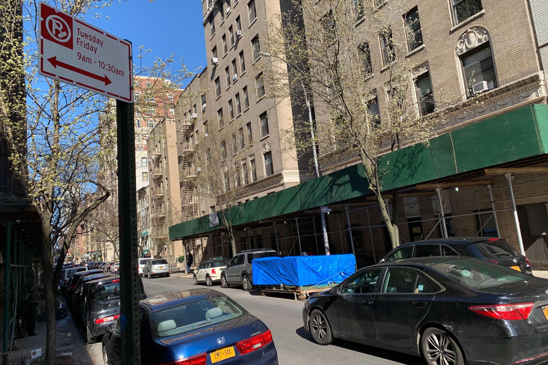 An alternate side parking sign on West 71st Street in Manhattan.