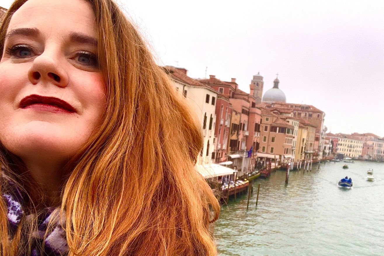 Teacher Erin McCarthy during her February trip to Italy.