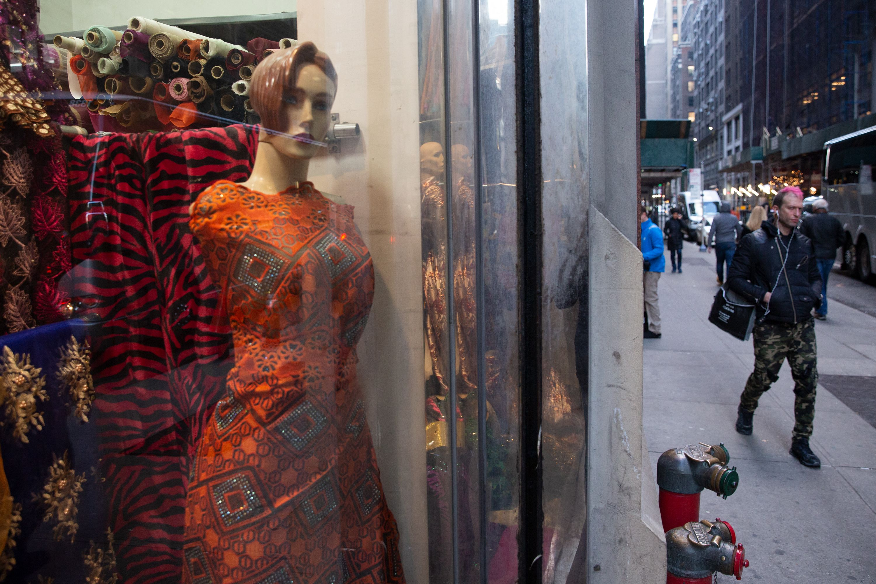 A fabric wholesaler in the Garment District.